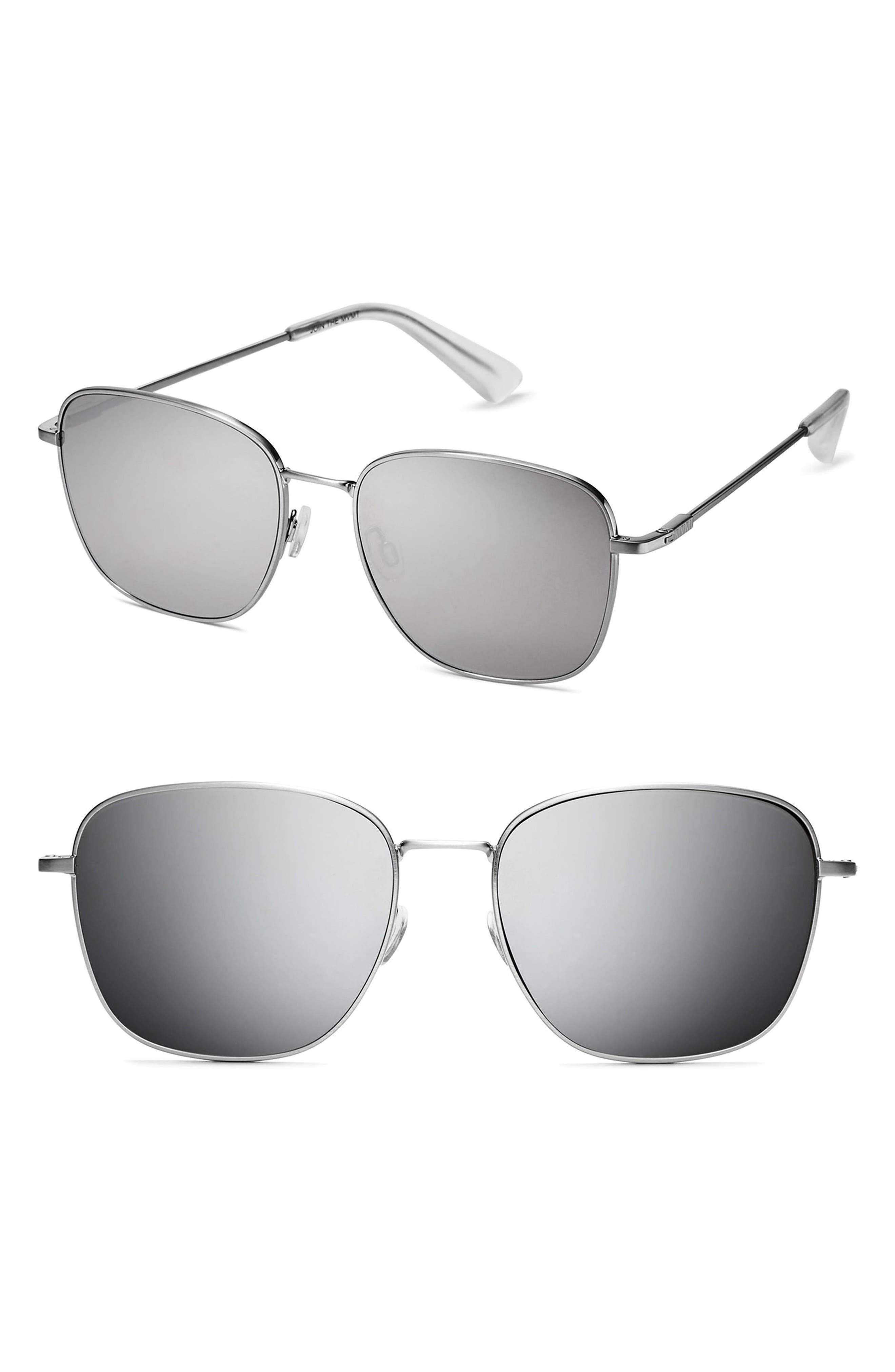 MVMT OUTLAW 57MM SUNGLASSES - SILVER MIRROR