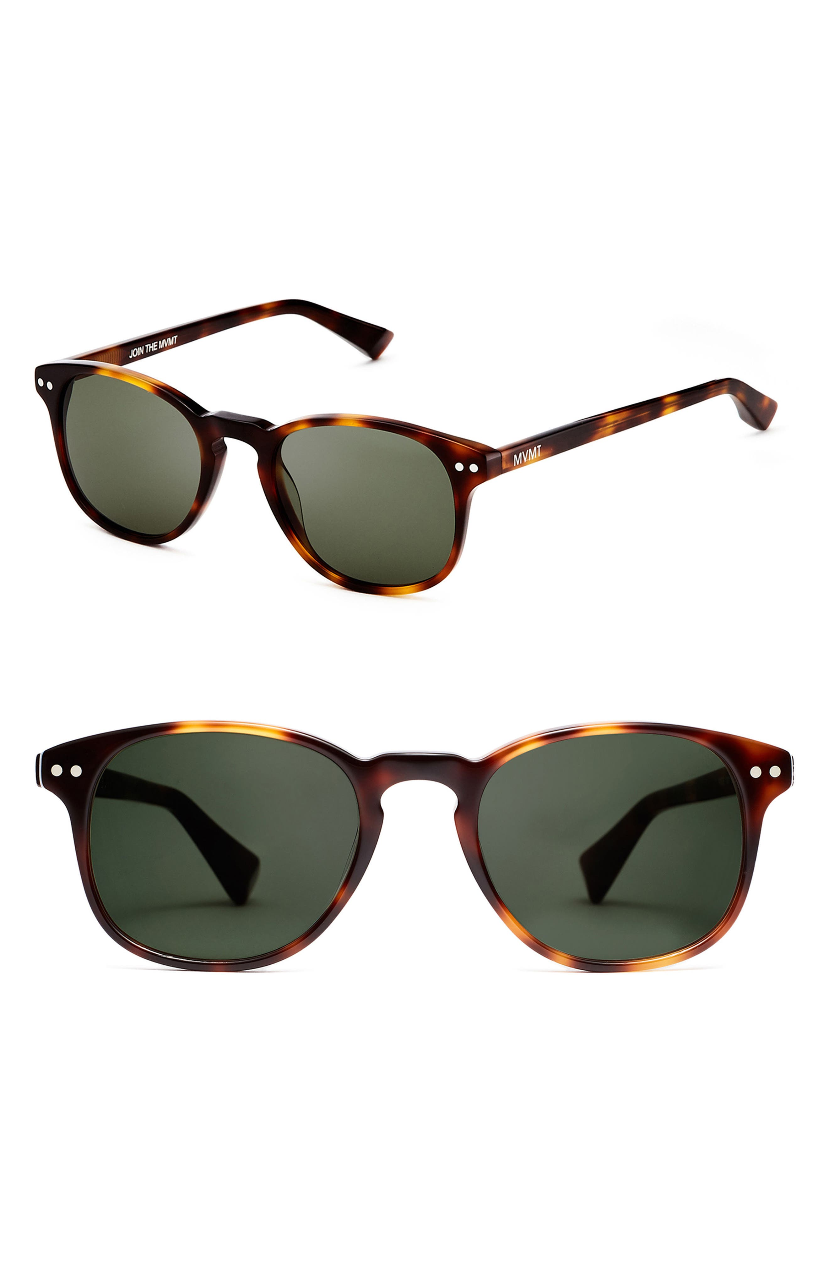 Hyde 57mm Polarized Round Sunglasses,                         Main,                         color, Whiskey Tortoise