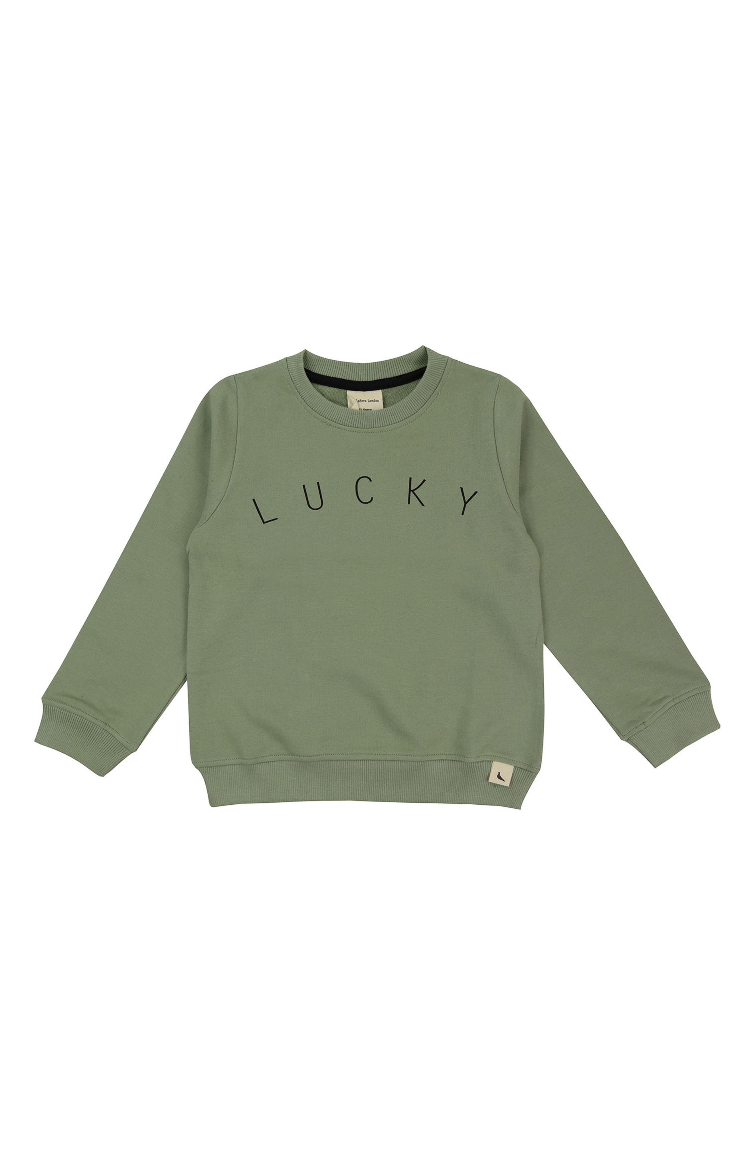 Lucky Sweatshirt,                         Main,                         color, Sage