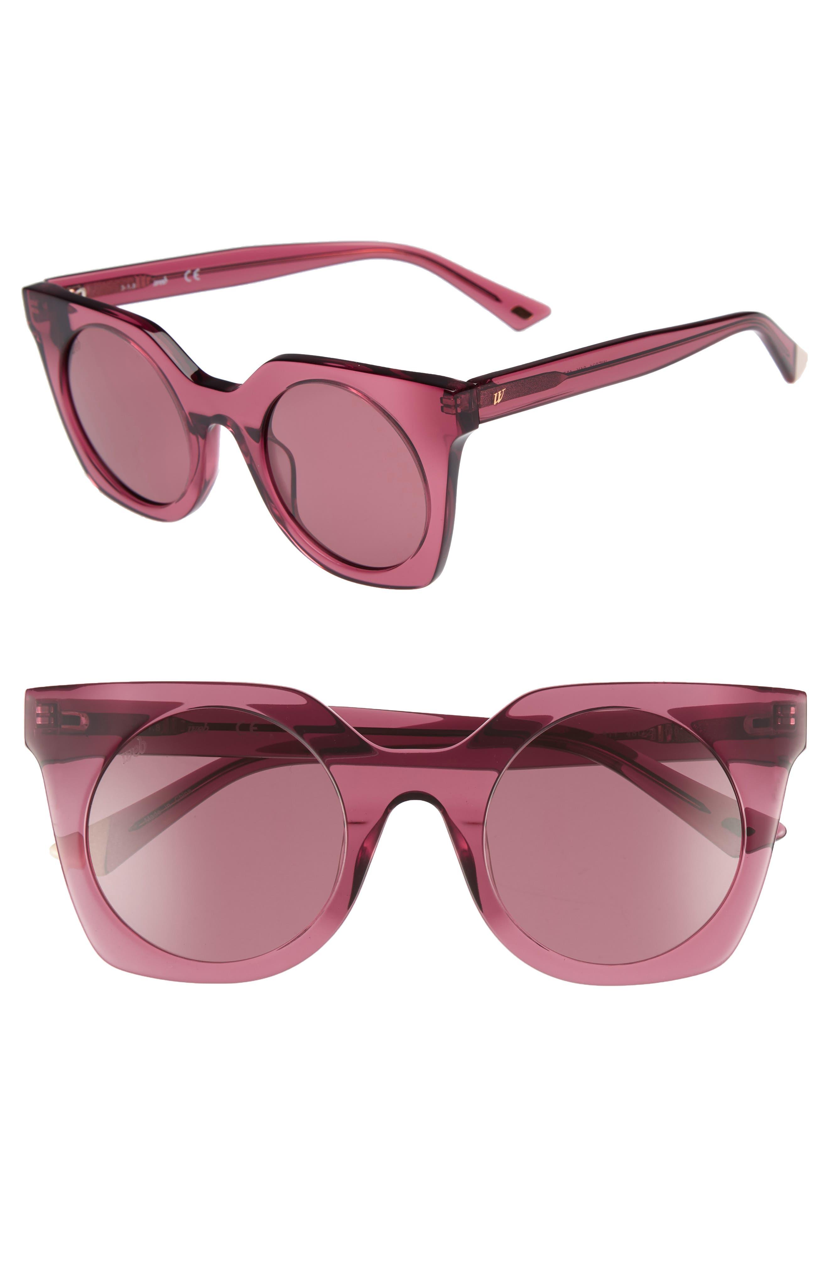 48mm Sunglasses,                         Main,                         color, Shiny Violet/ Violet