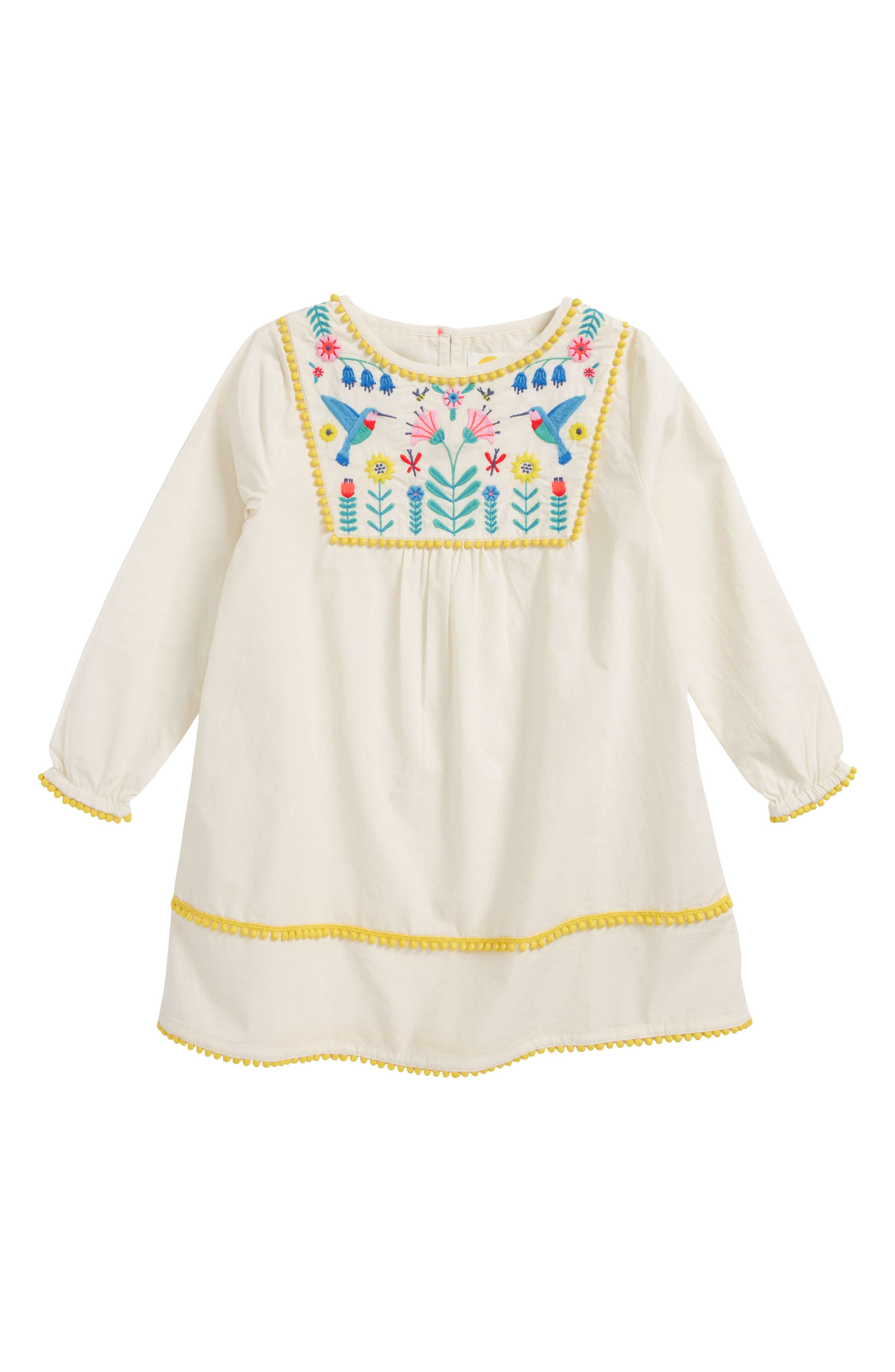 Pretty Embroidered Caftan,                         Main,                         color, Ecru