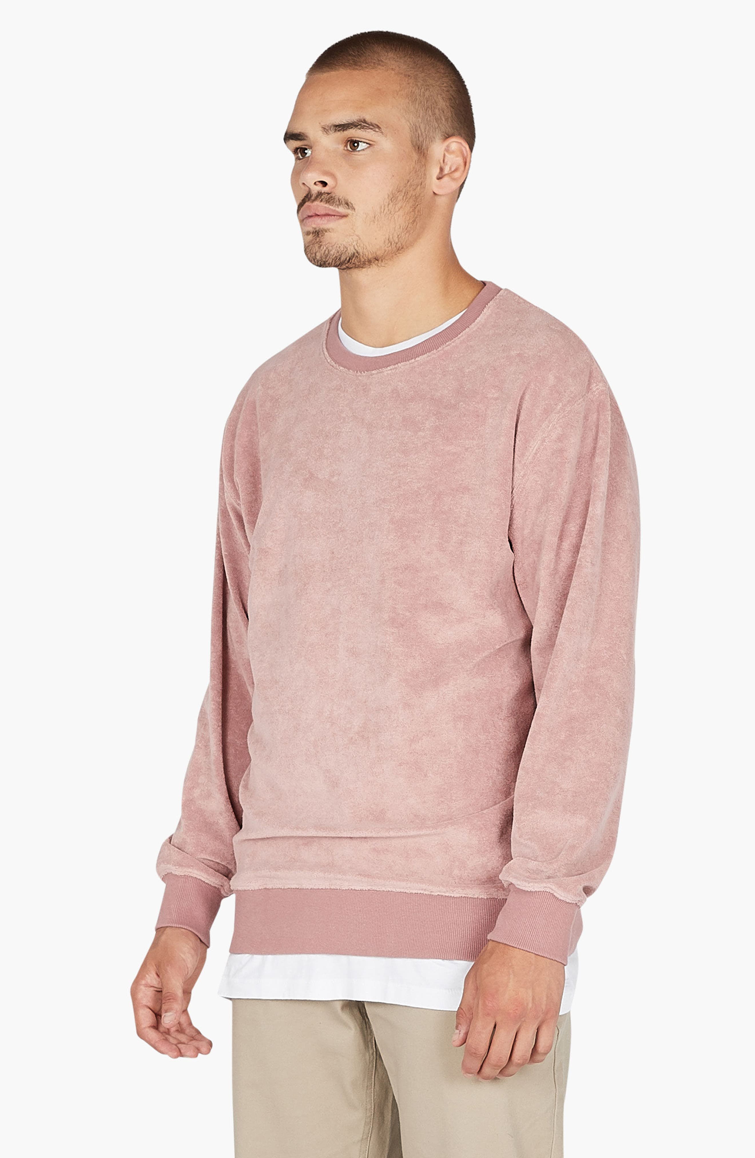 Terry Sweatshirt,                             Alternate thumbnail 4, color,                             Rose