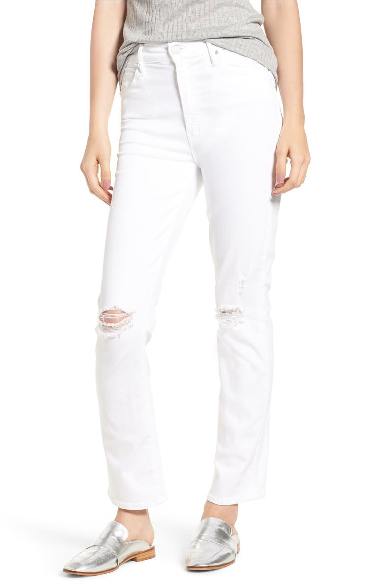 Mother  THE RASCAL HIGH WAIST ANKLE STRAIGHT LEG JEANS