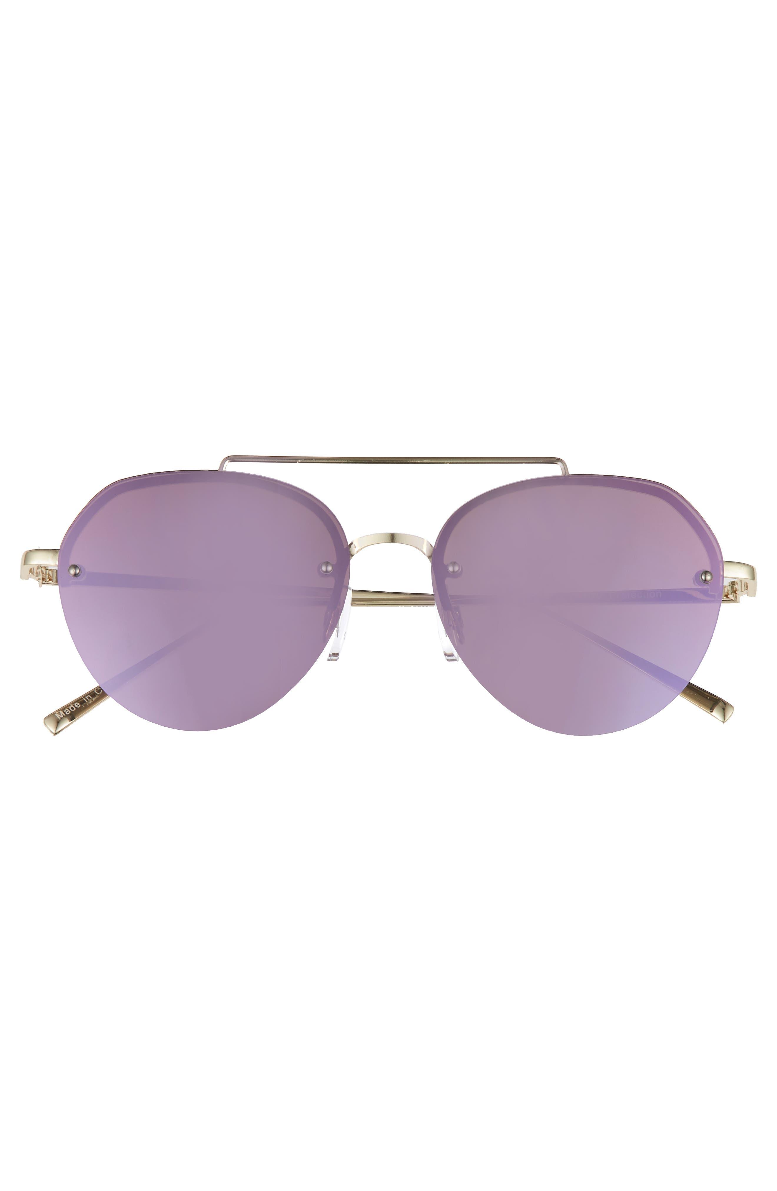 Gradient Petite Aviator Sunglasses,                             Alternate thumbnail 3, color,                             Lavender