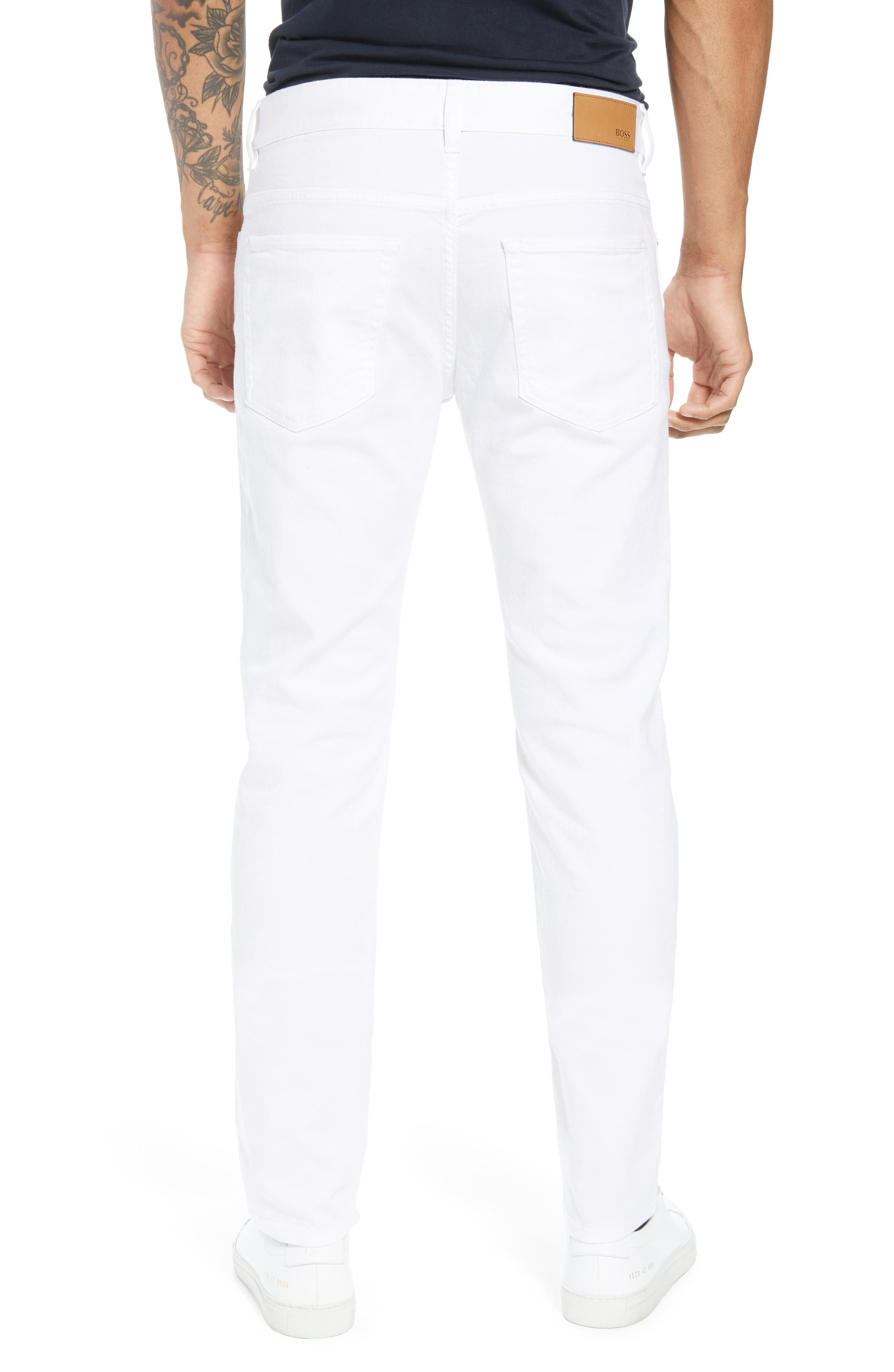 Delaware Slim Fit Jeans,                             Alternate thumbnail 2, color,                             White