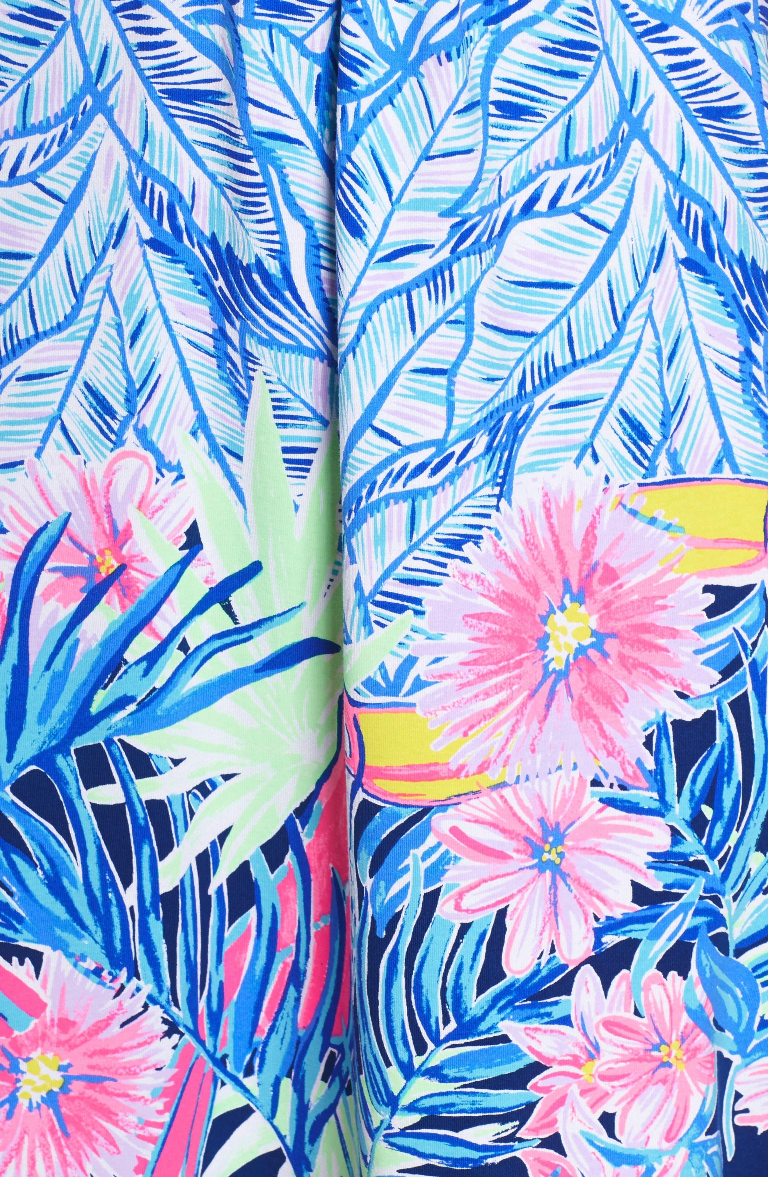 Parigi Print Dress,                             Alternate thumbnail 5, color,                             Bennet Blue Lets Mango