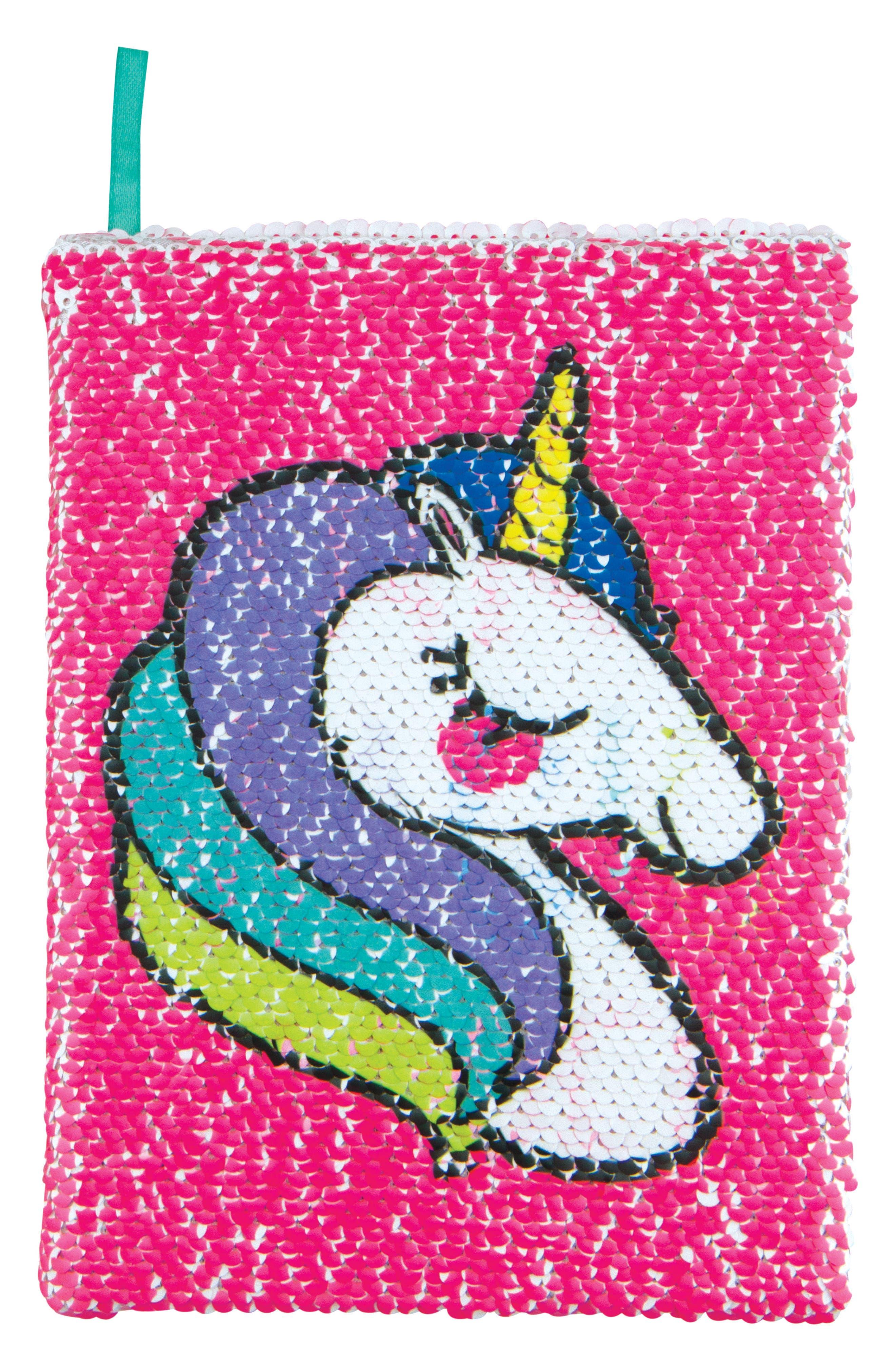 Unicorns Make Magic Happen Magic Sequin Reveal Journal,                             Main thumbnail 1, color,                             No Color