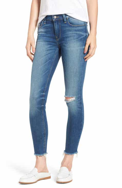 AG Farrah High Waist Split Hem Skinny Jeans (10 Years Cambria) by AG