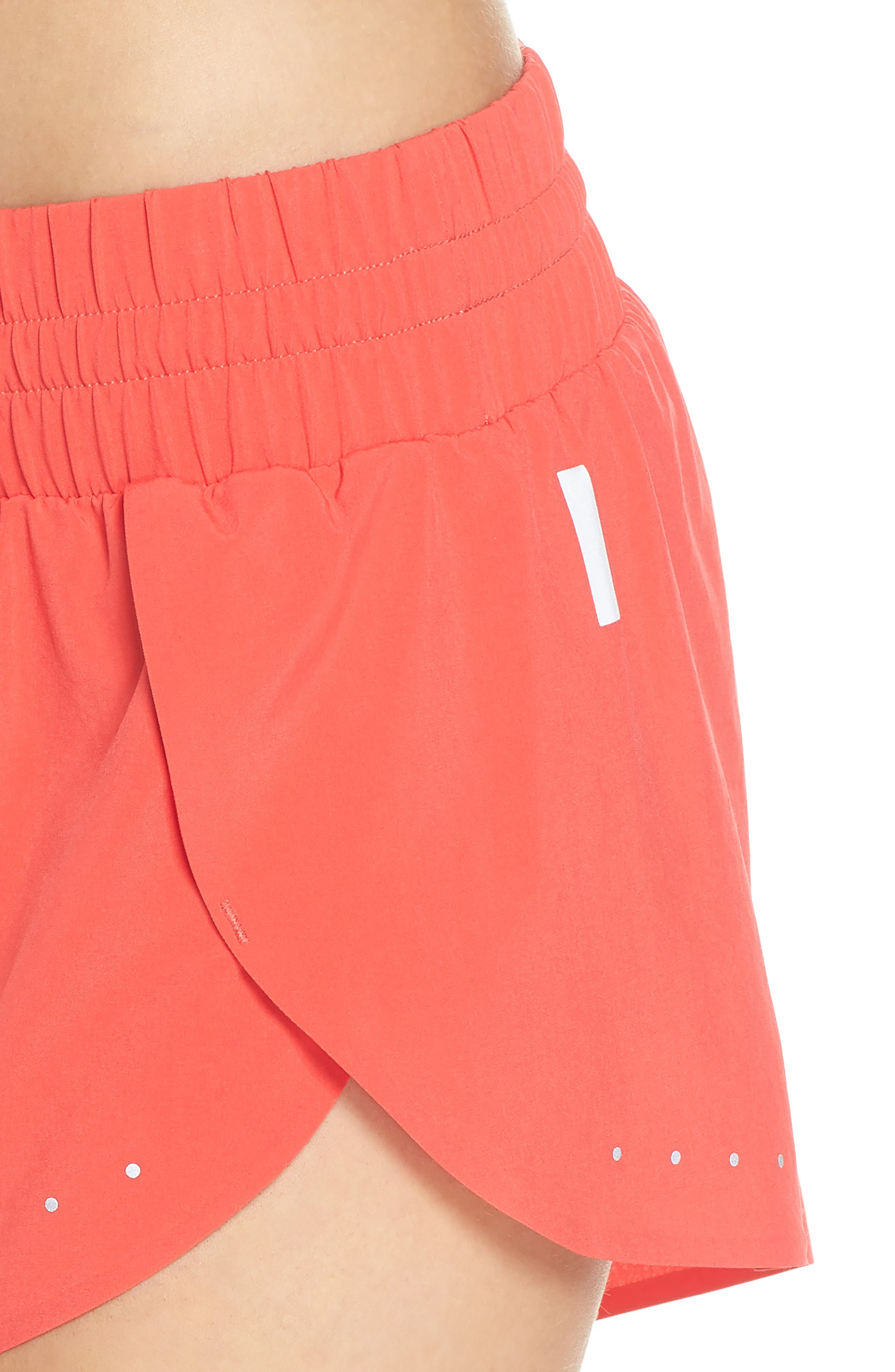 Run Play Shorts,                             Alternate thumbnail 4, color,                             Red Hibiscus