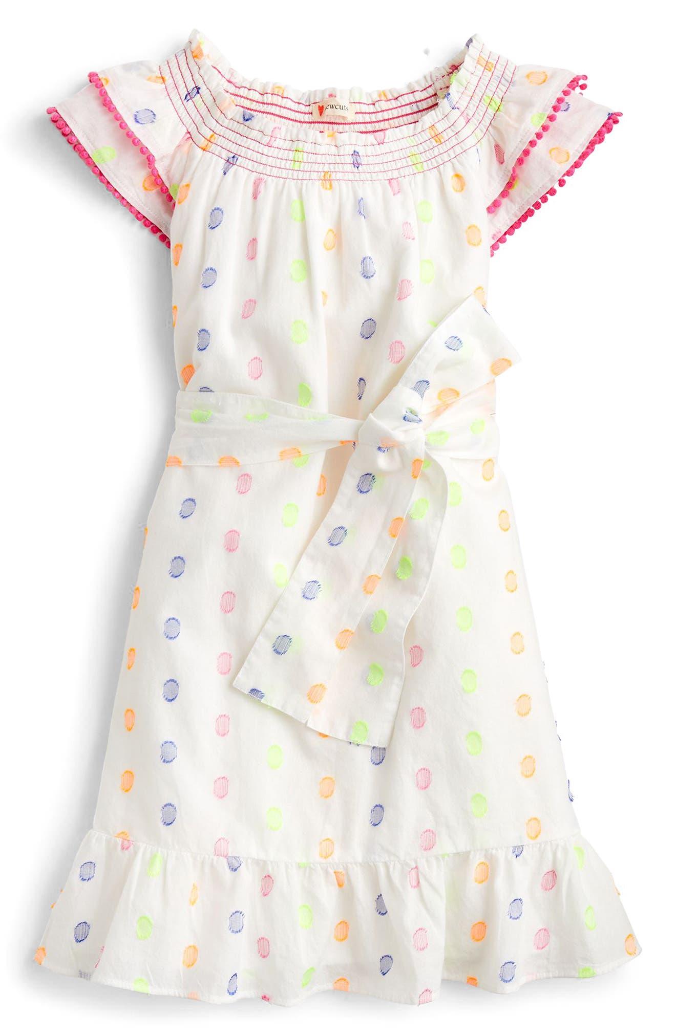 crewcuts by J. Crew Cora Dot Dress (Toddler Girls, Little Girls, Big Girls)