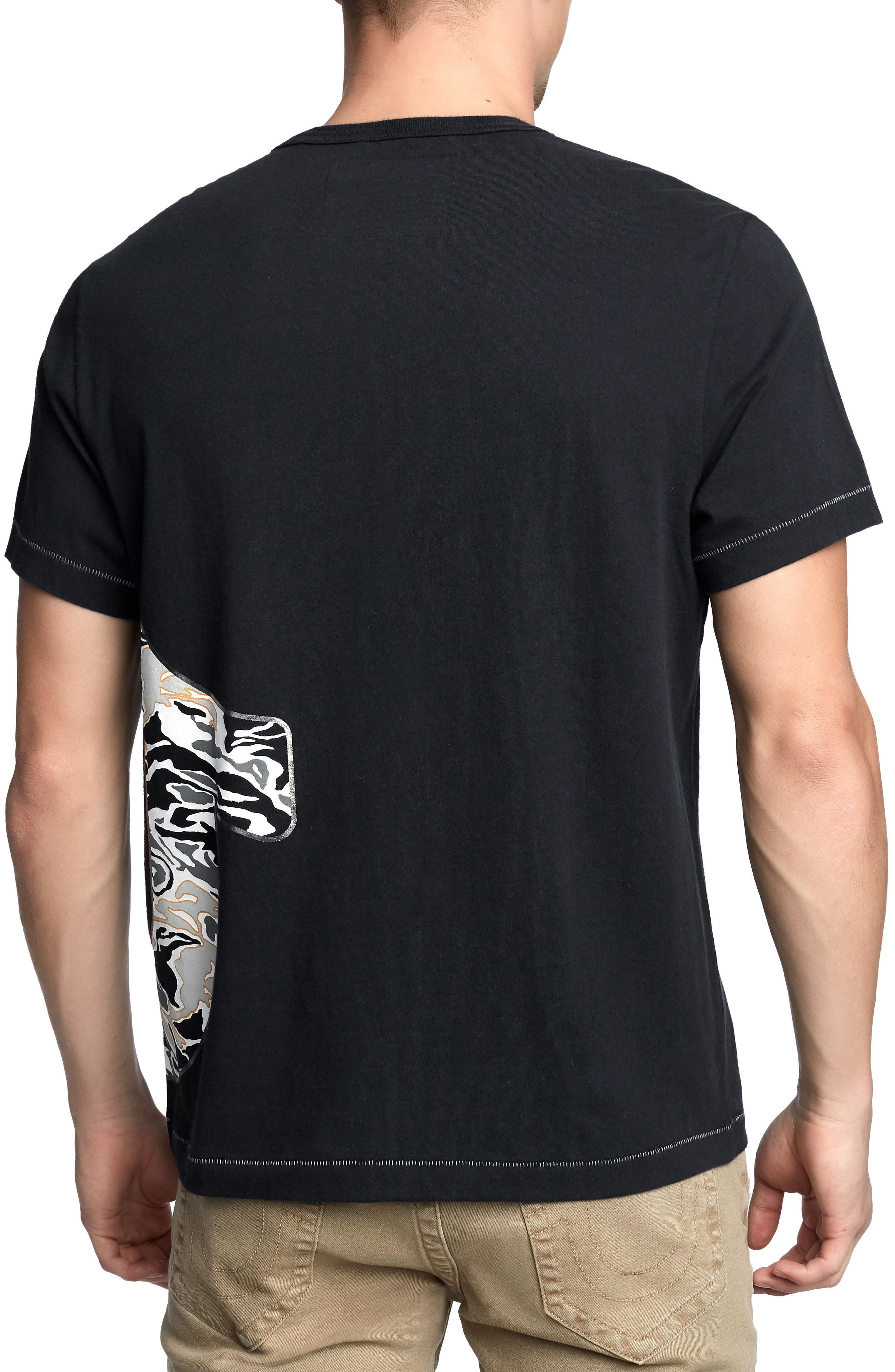 Pop Camo Logo T-Shirt,                             Alternate thumbnail 2, color,                             True Black