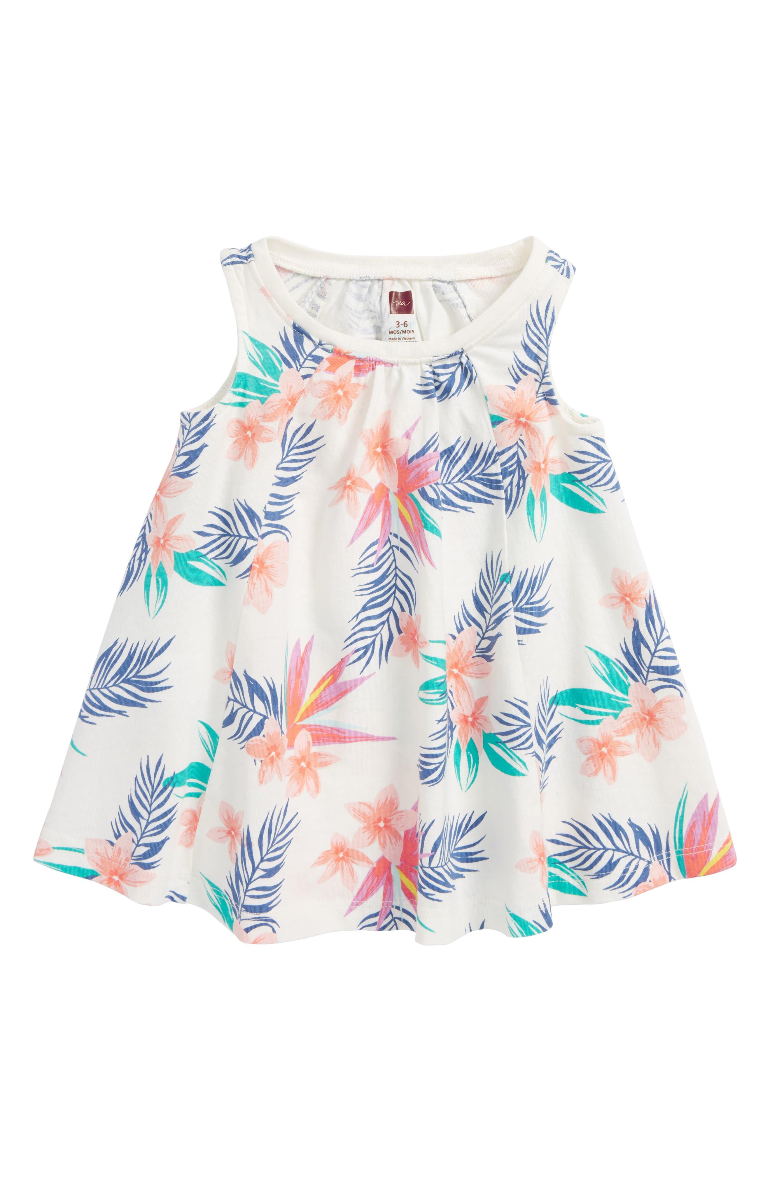 Trapeze Dress,                         Main,                         color, Hawaiian Florals