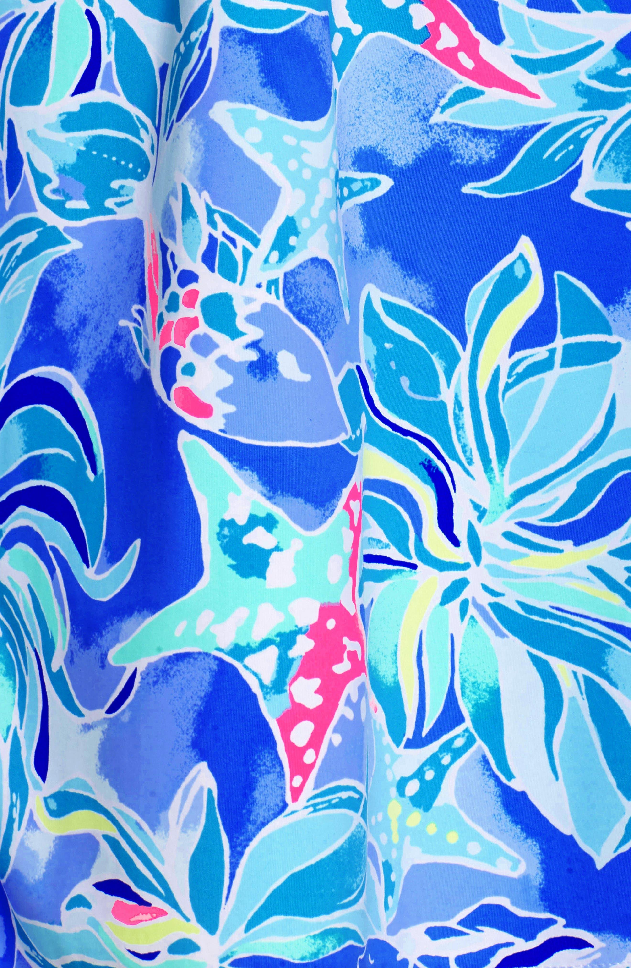 Margarete Cover-Up,                             Alternate thumbnail 5, color,                             Bennet Blue Celestial Seas