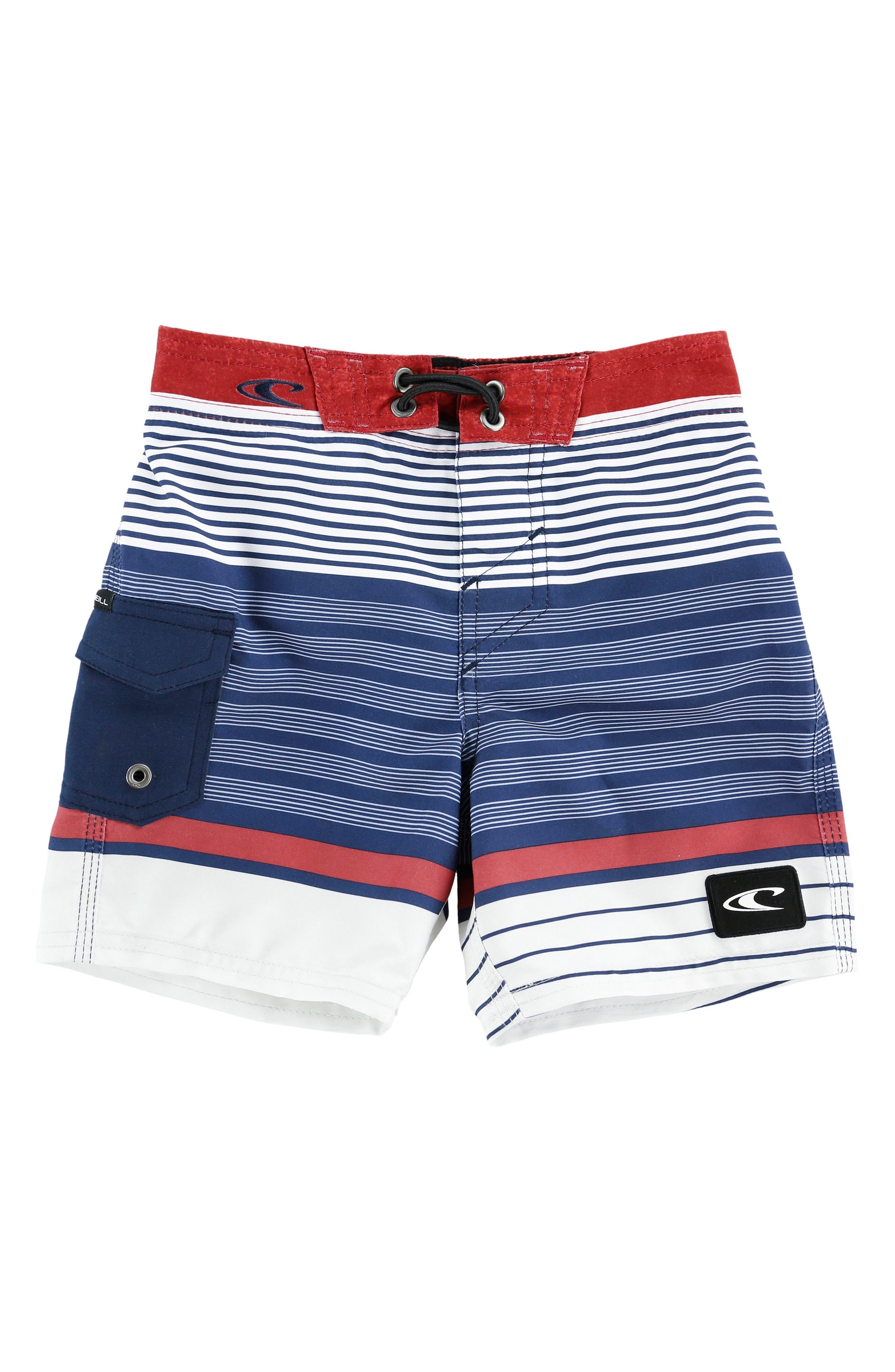 O'Neill Lennox Stripe Board Shorts (Toddler Boys)