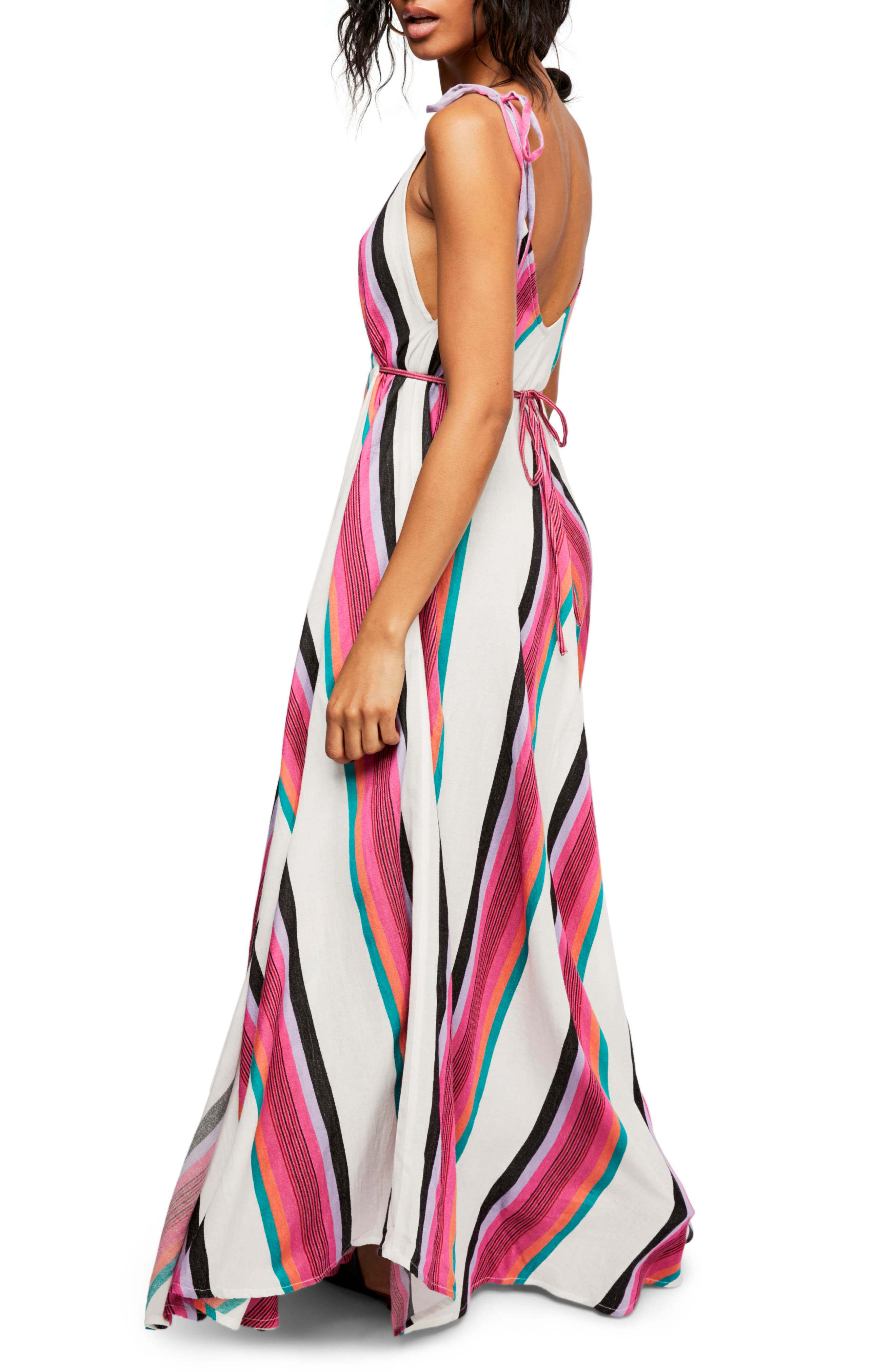 Endless Summer by Free People Neon Lights Maxi Dress,                             Alternate thumbnail 3, color,                             Assort