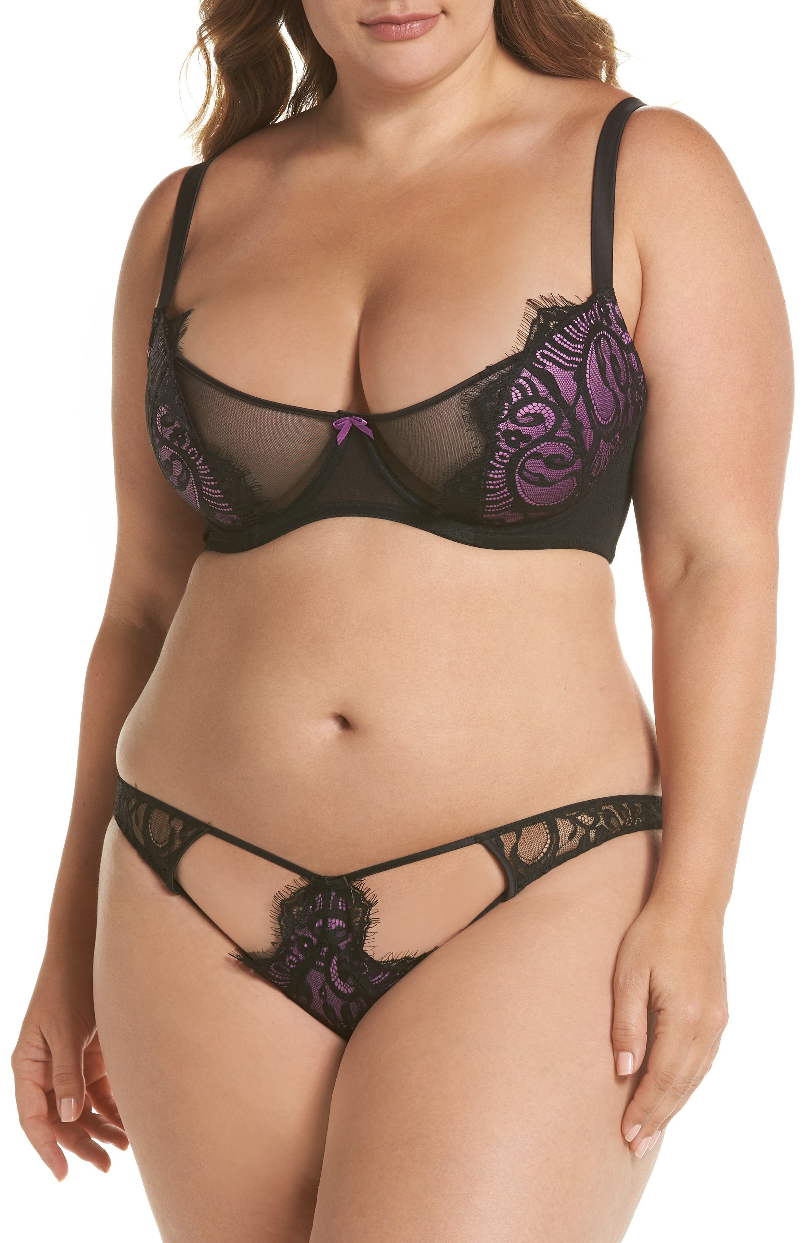 Candy Ultra Underwire Demi Bra,                             Alternate thumbnail 4, color,                             Violet