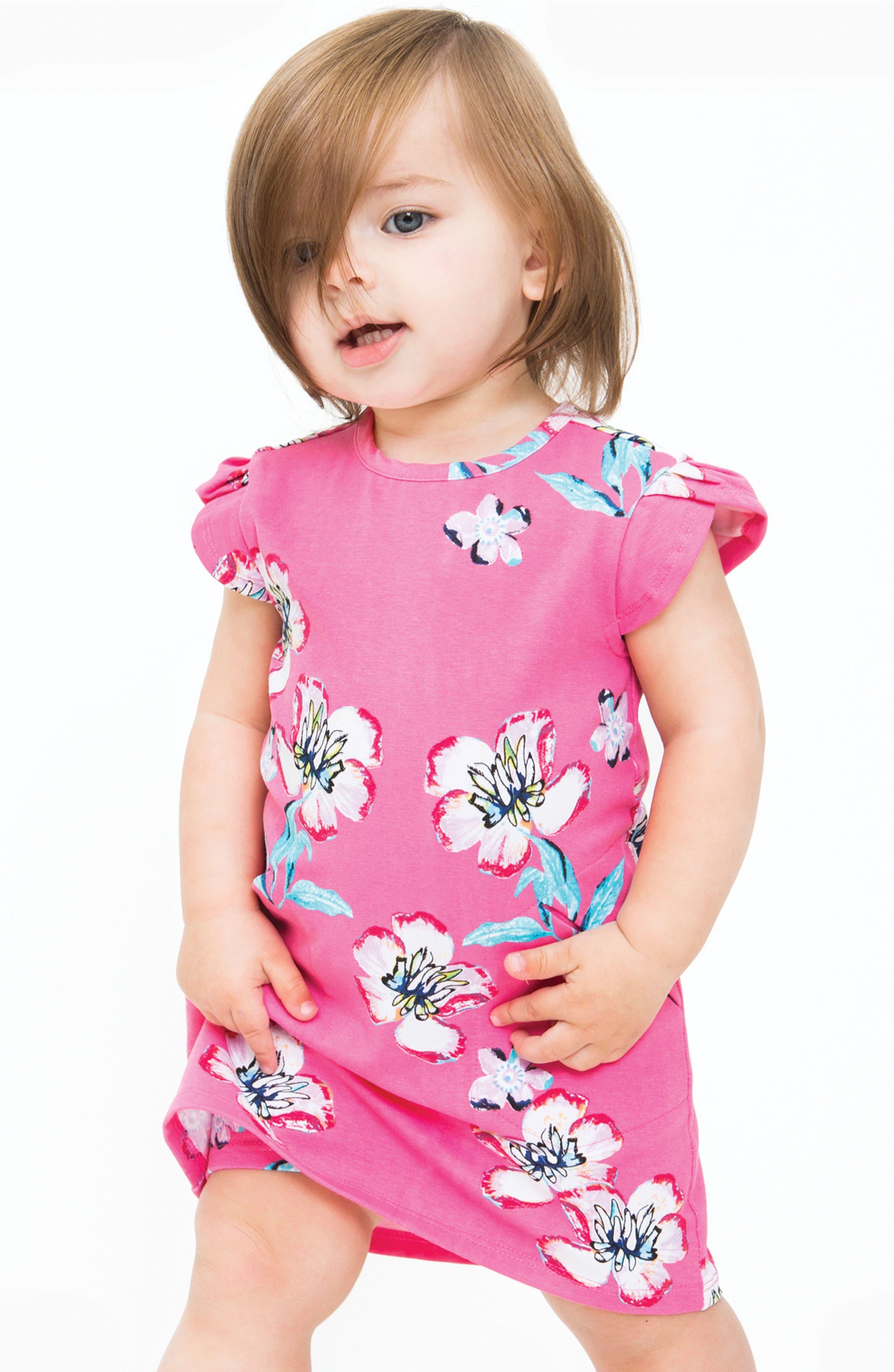 Ivy Plumeria Dress,                             Alternate thumbnail 2, color,                             Pink Plumeria