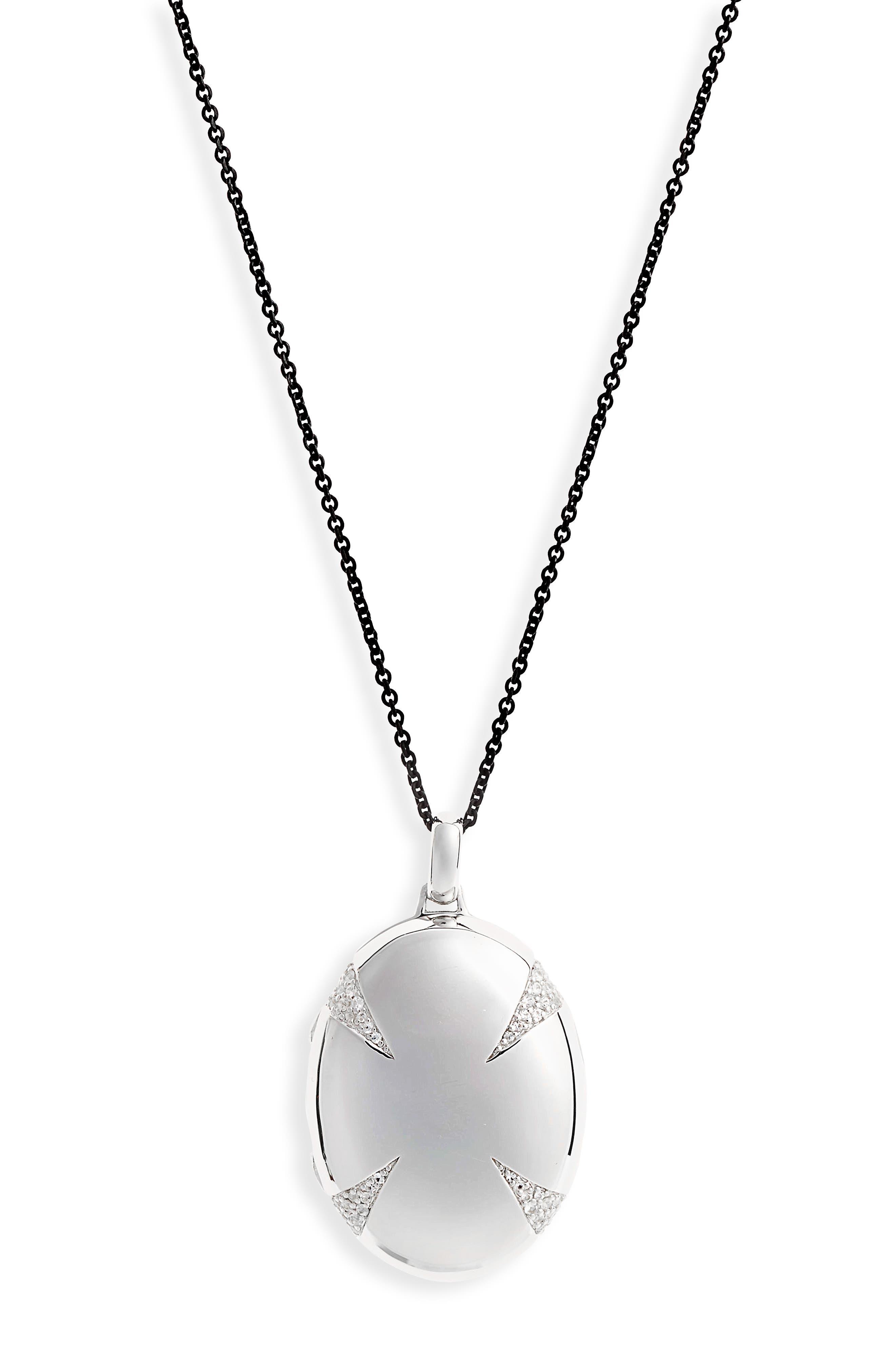 4-Image Locket Necklace,                             Alternate thumbnail 3, color,                             Sterling Silver