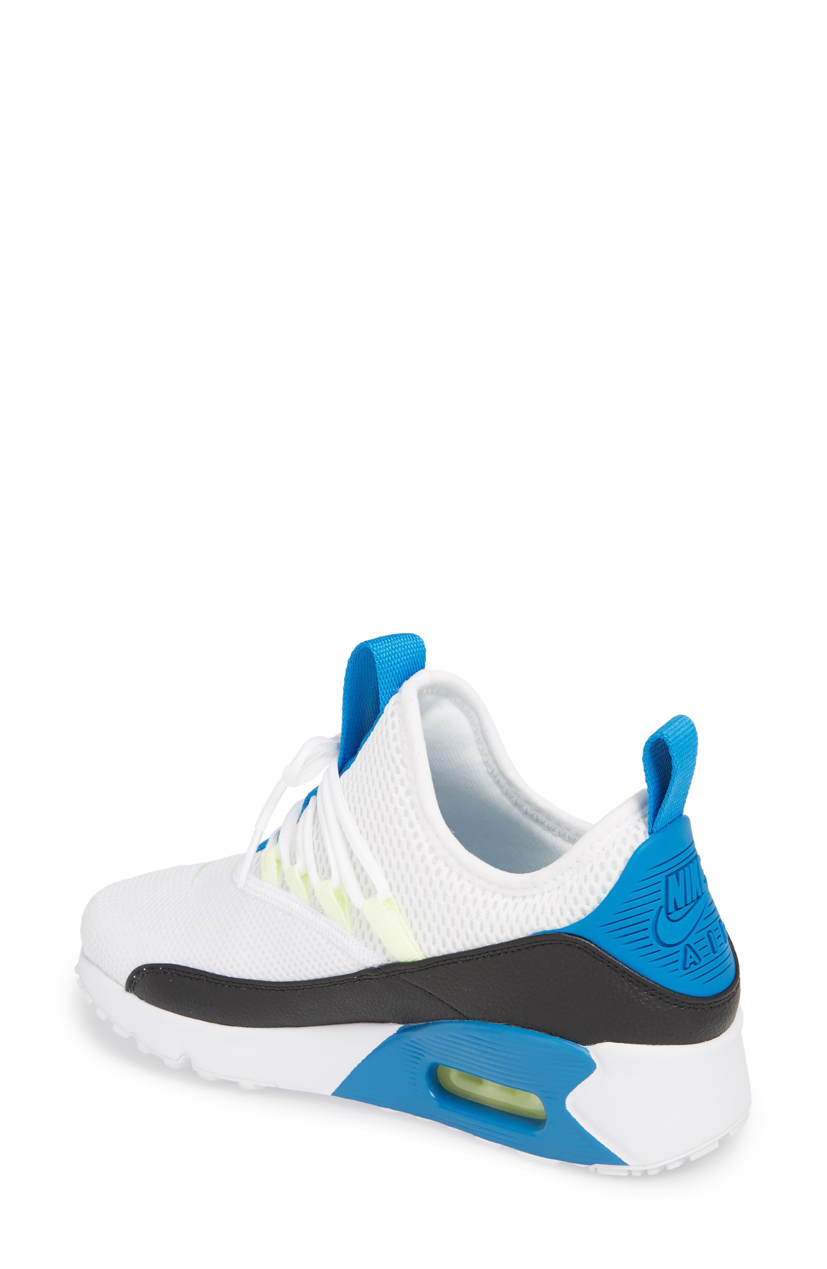 Air Max 90 EZ Sneaker,                             Alternate thumbnail 2, color,                             White/ Black/ Blue Nebula