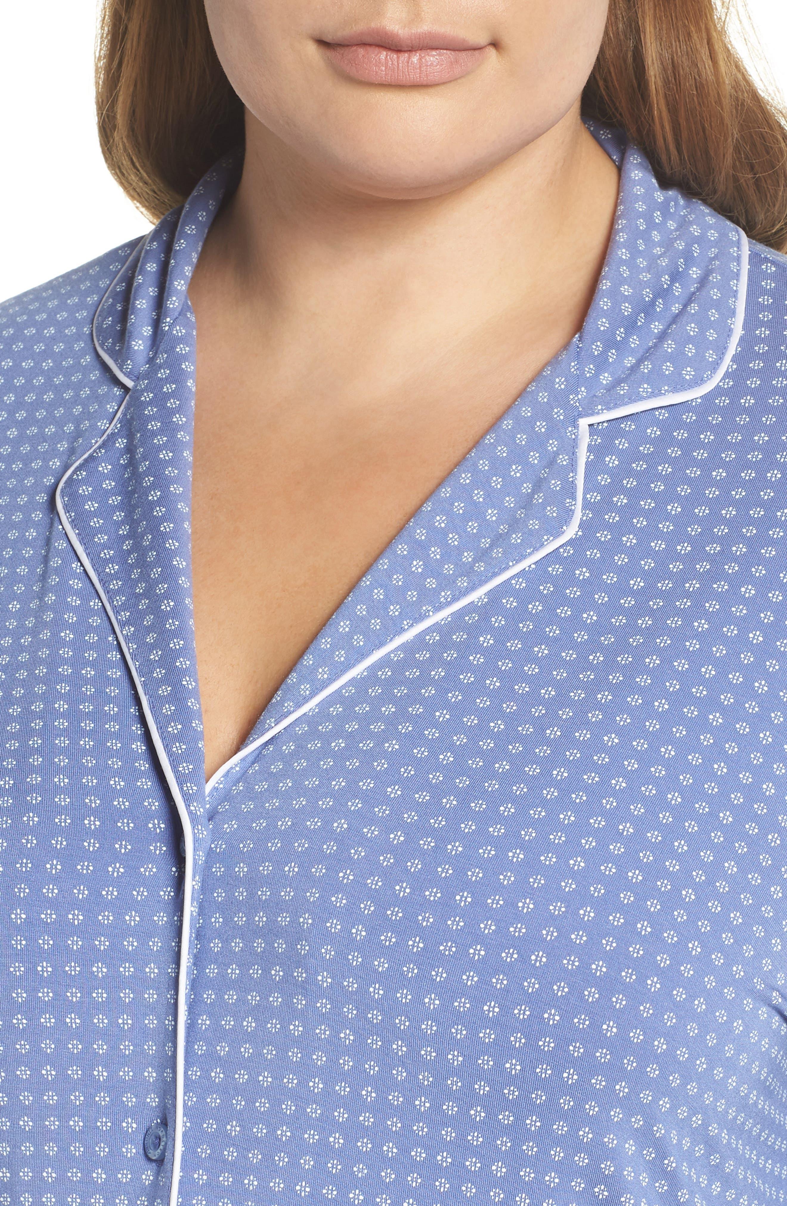 'Moonlight' Pajamas,                             Alternate thumbnail 4, color,                             Blue Denim Geo