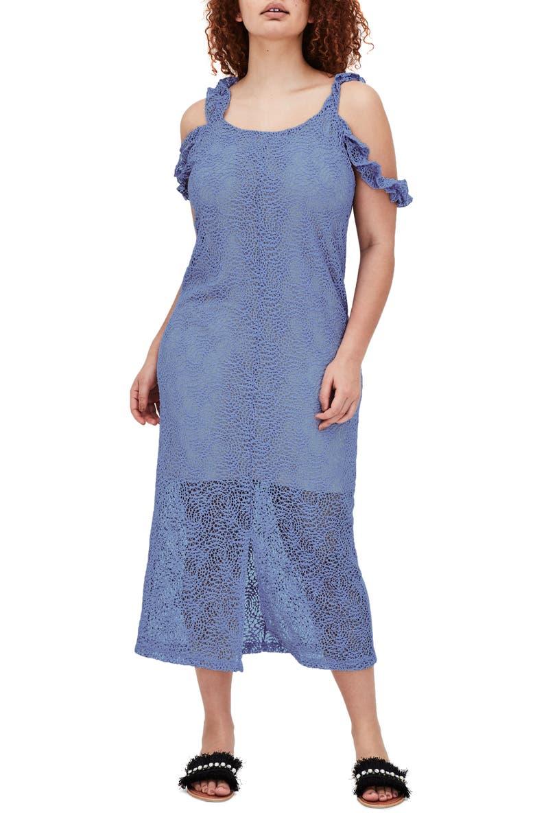 The Sulfo Lace Cold Shoulder Maxi Dress