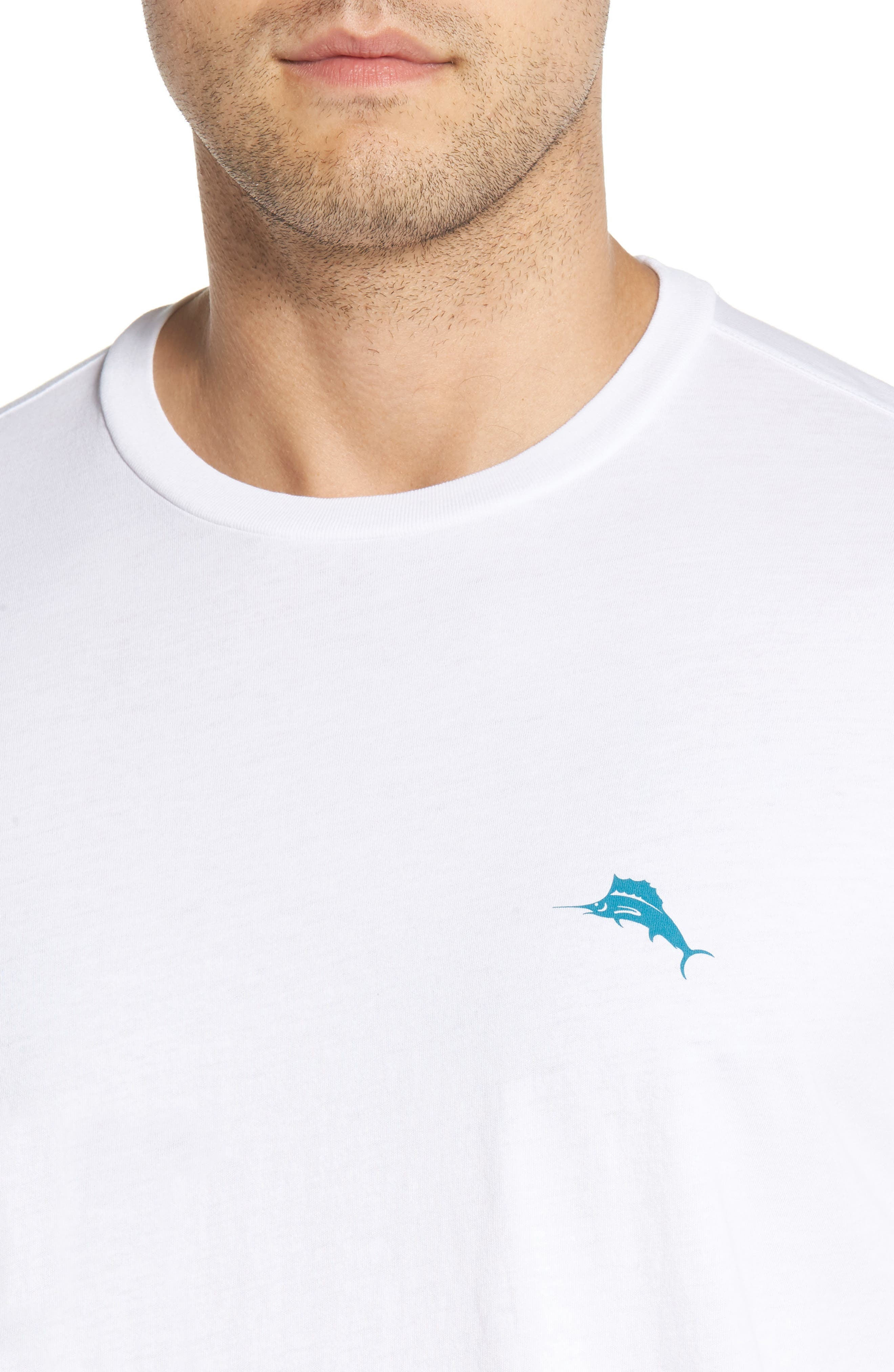 Parrot Pair T-Shirt,                             Alternate thumbnail 4, color,                             White