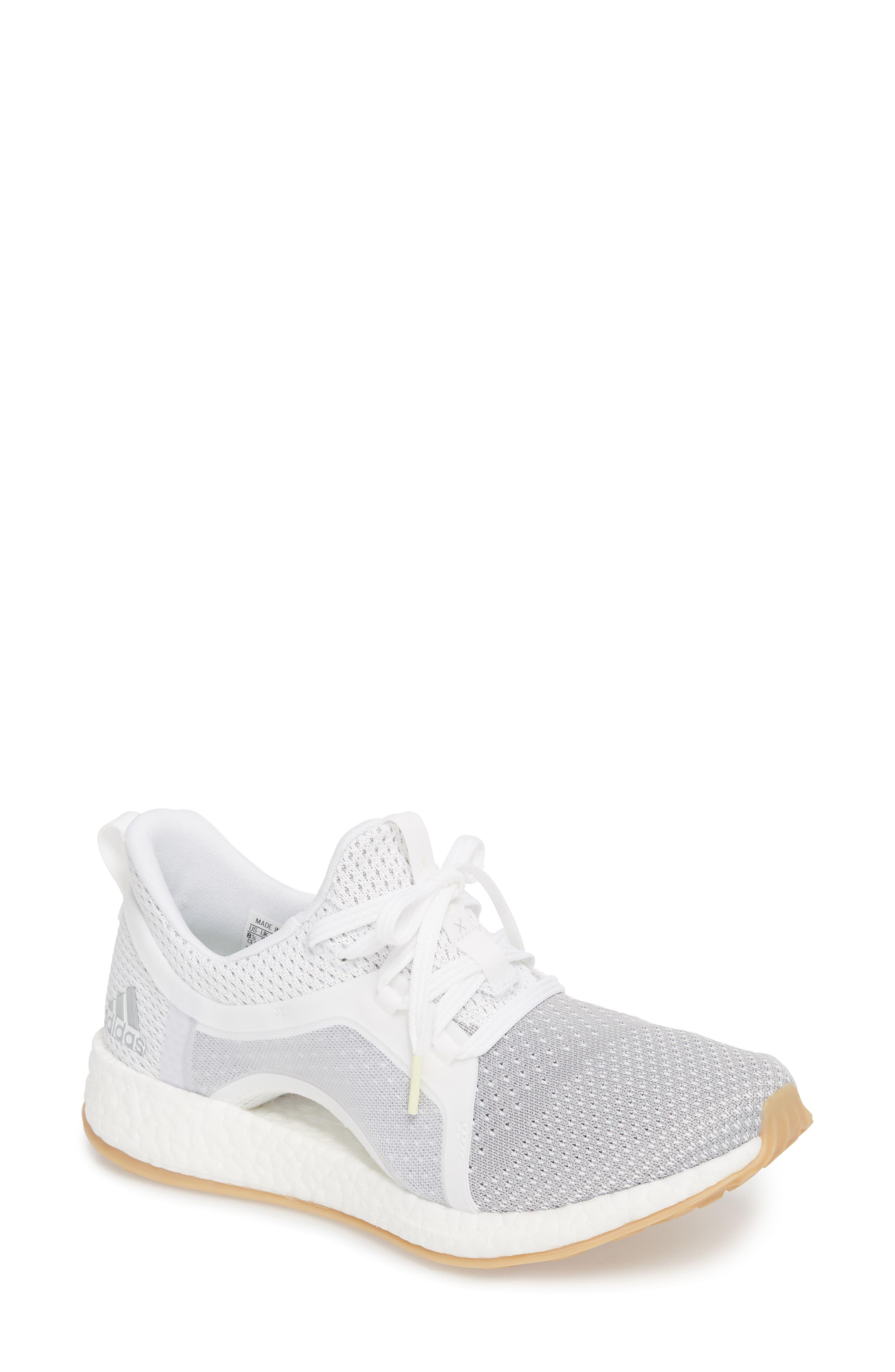 Pureboost X Clima Sneaker,                             Main thumbnail 1, color,                             White/ Silver/ Grey