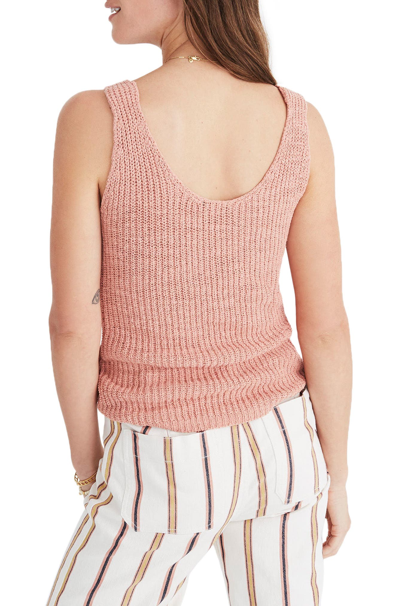 Monterey Sweater Tank,                             Alternate thumbnail 2, color,                             Antique Coral