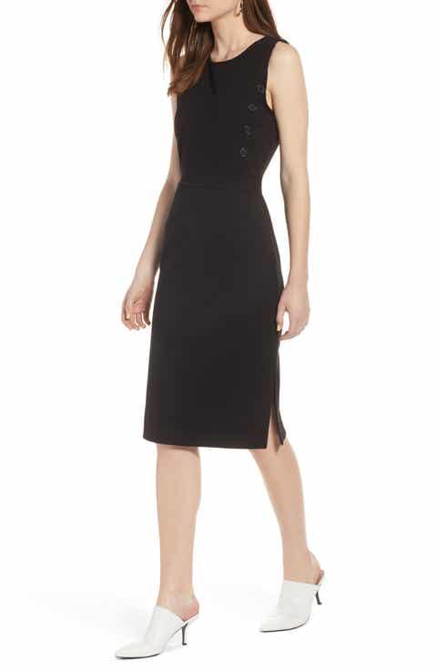 Halogen? Knit Sheath Dress (Regular & Petite)