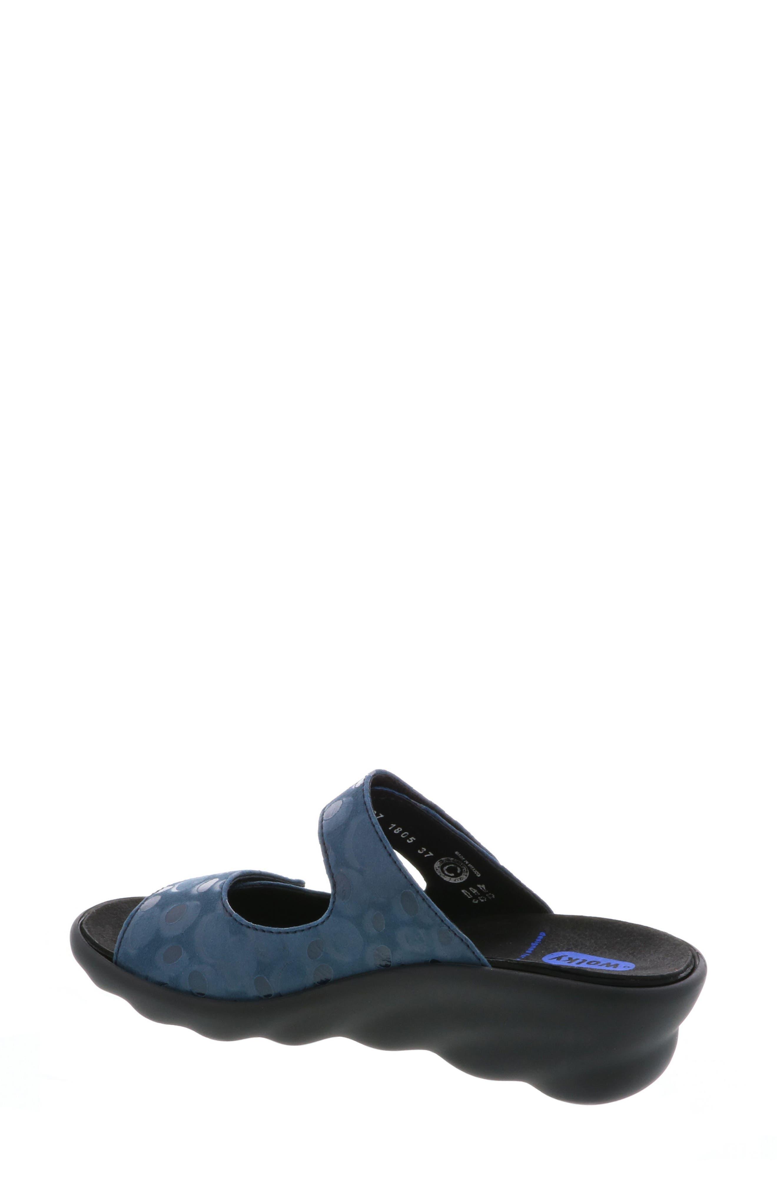 Bolena Slide Sandal,                             Alternate thumbnail 2, color,                             Blue Circle Print