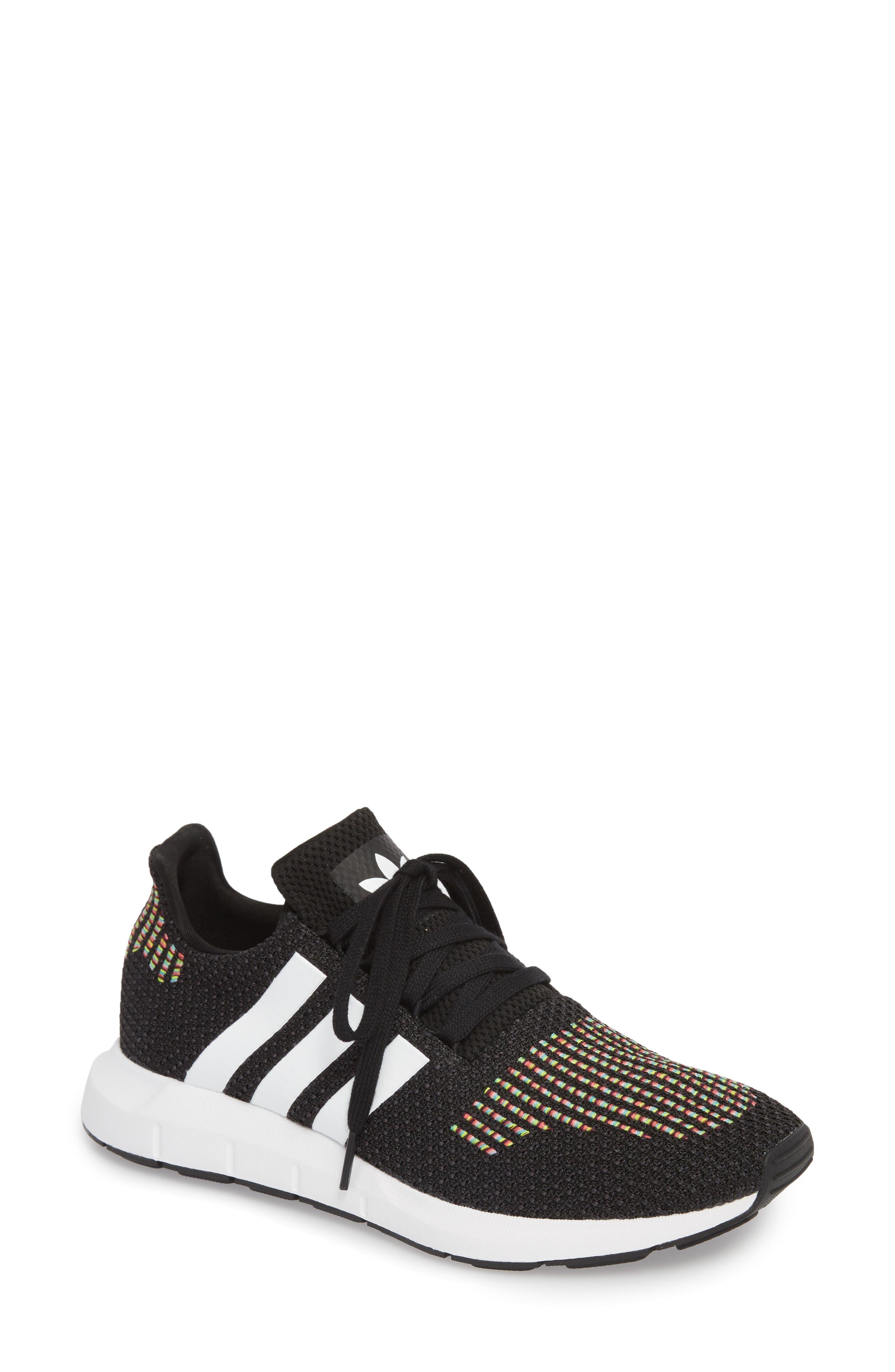 Swift Run Sneaker,                             Main thumbnail 1, color,                             Core Black/ White/ Core Black