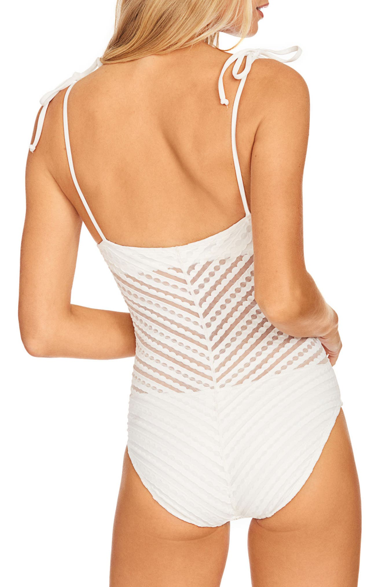 Carly One-Piece Swimsuit,                             Alternate thumbnail 2, color,                             White