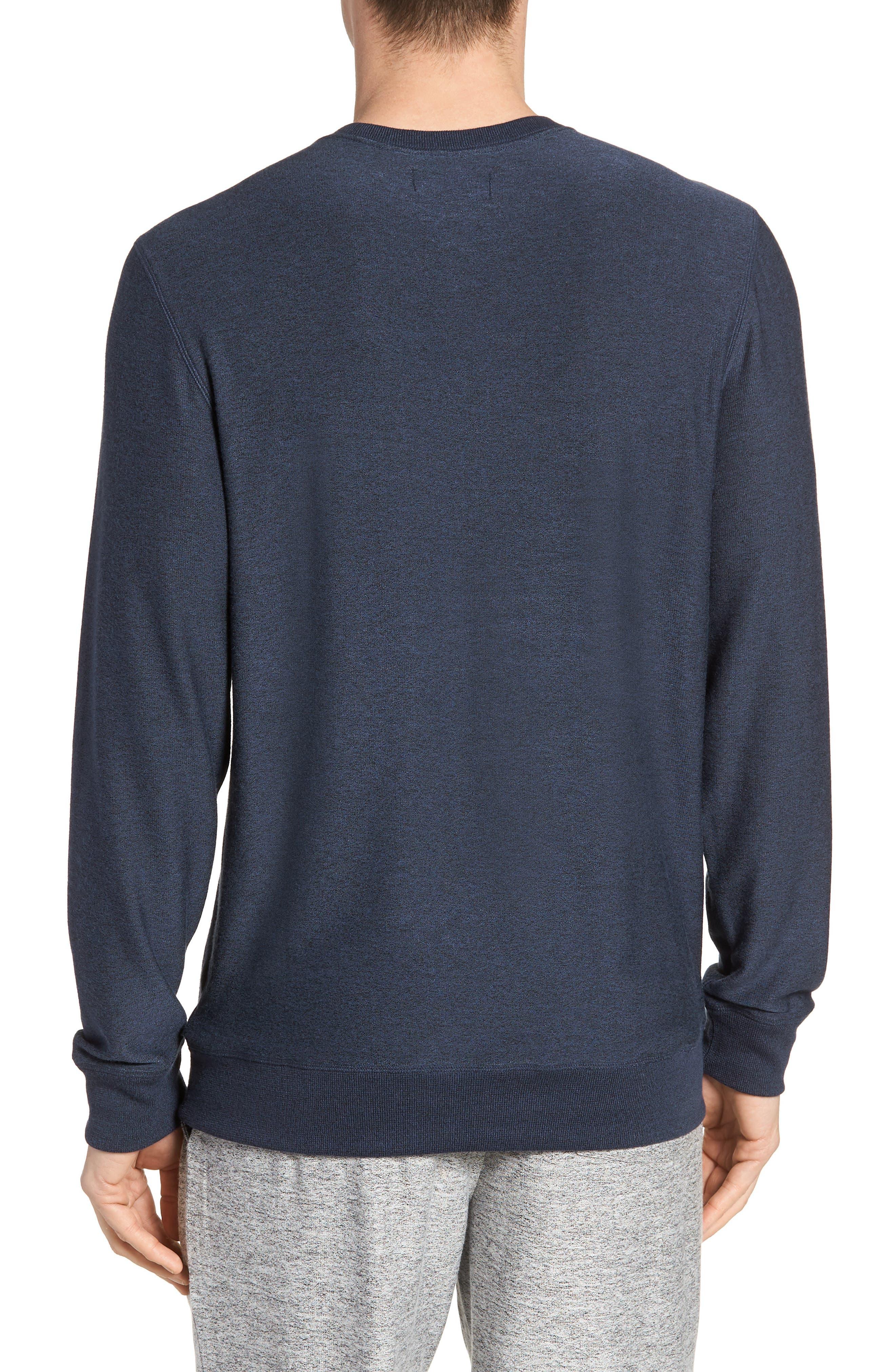 Ultra Soft Crewneck Sweatshirt,                             Alternate thumbnail 2, color,                             Navy Indigo Marl