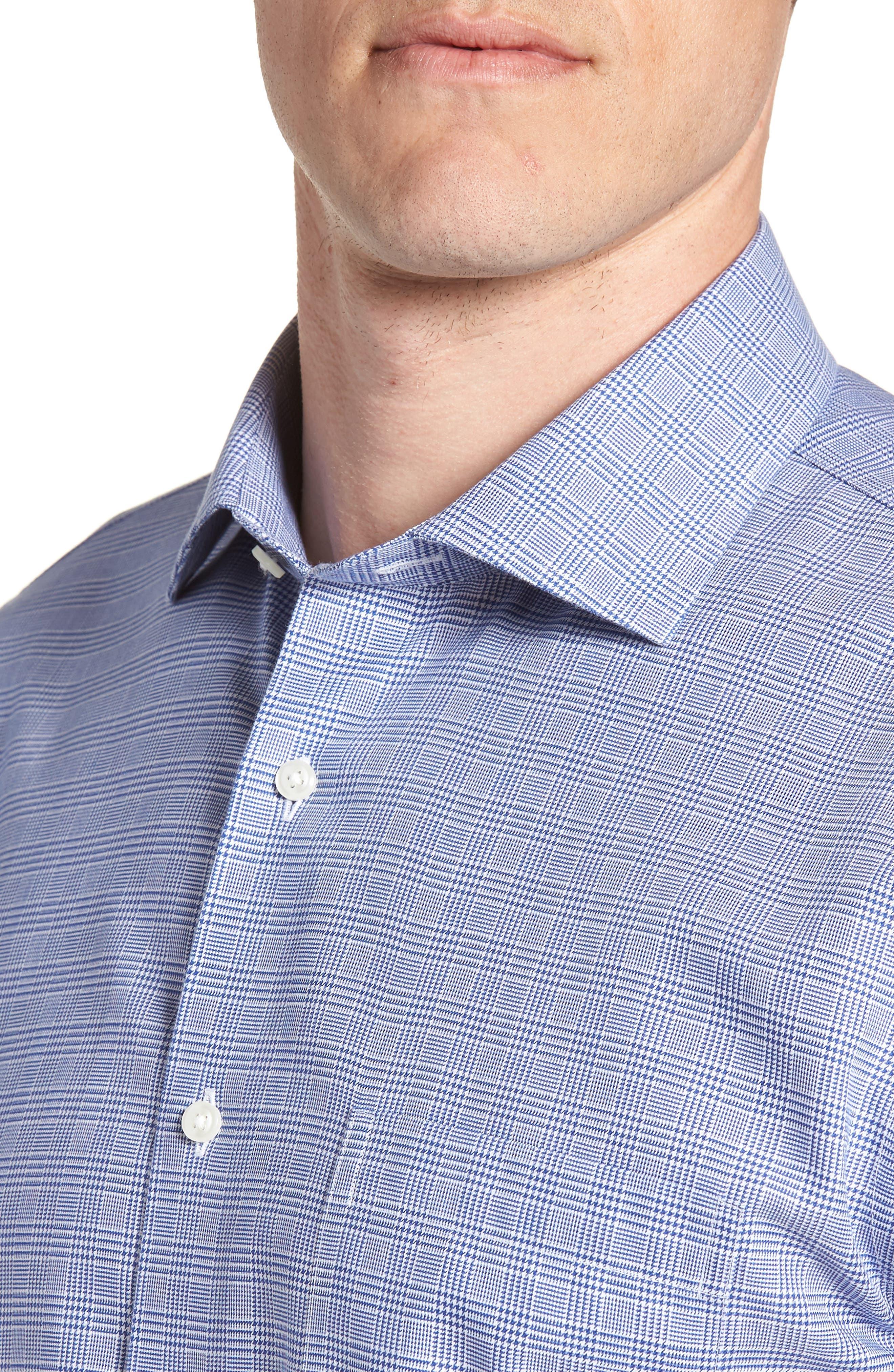 Smartcare<sup>™</sup> Trim Fit Herringbone Dress Shirt,                             Alternate thumbnail 2, color,                             Blue Marine