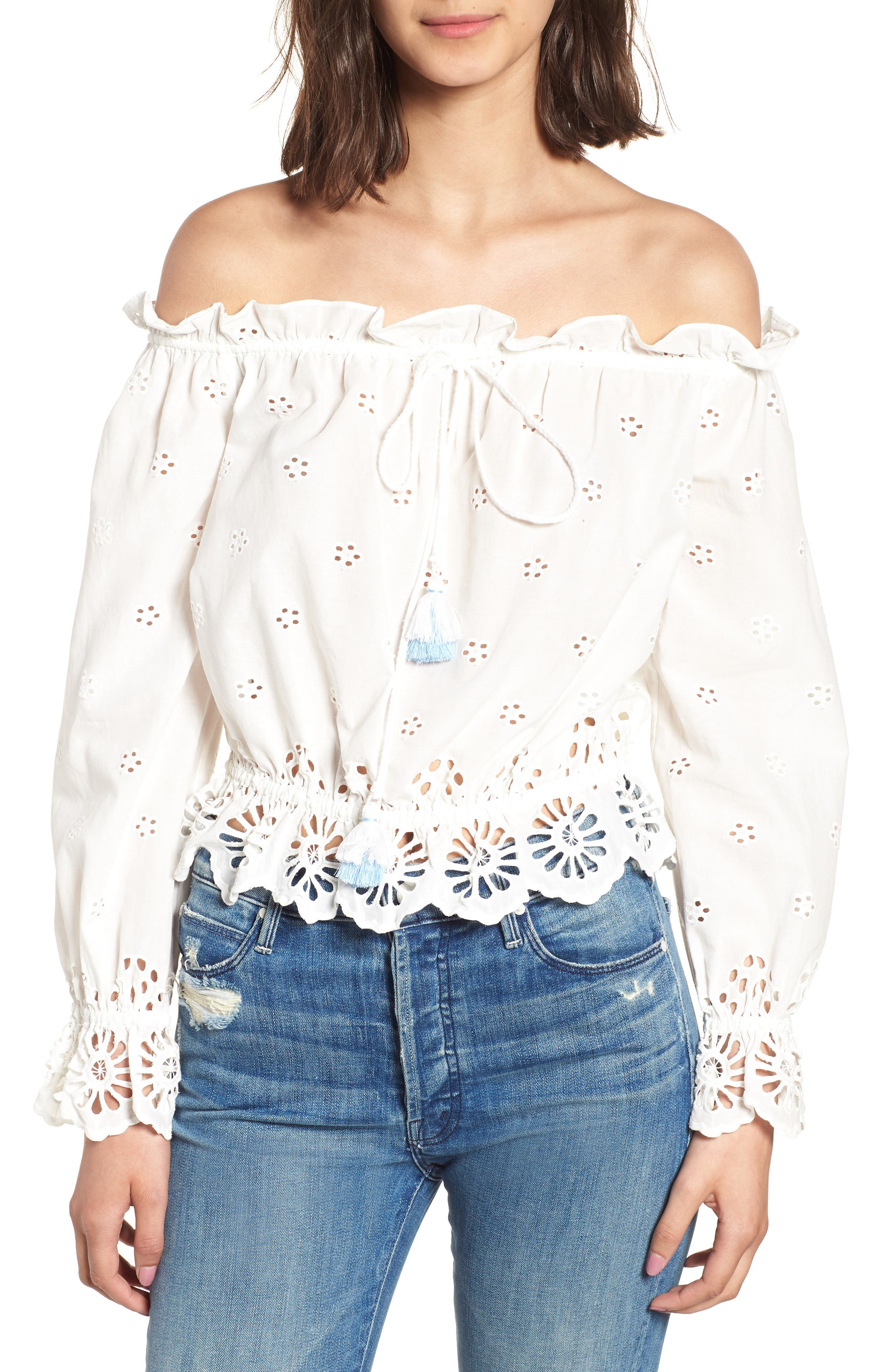 Anthea Top,                         Main,                         color, White