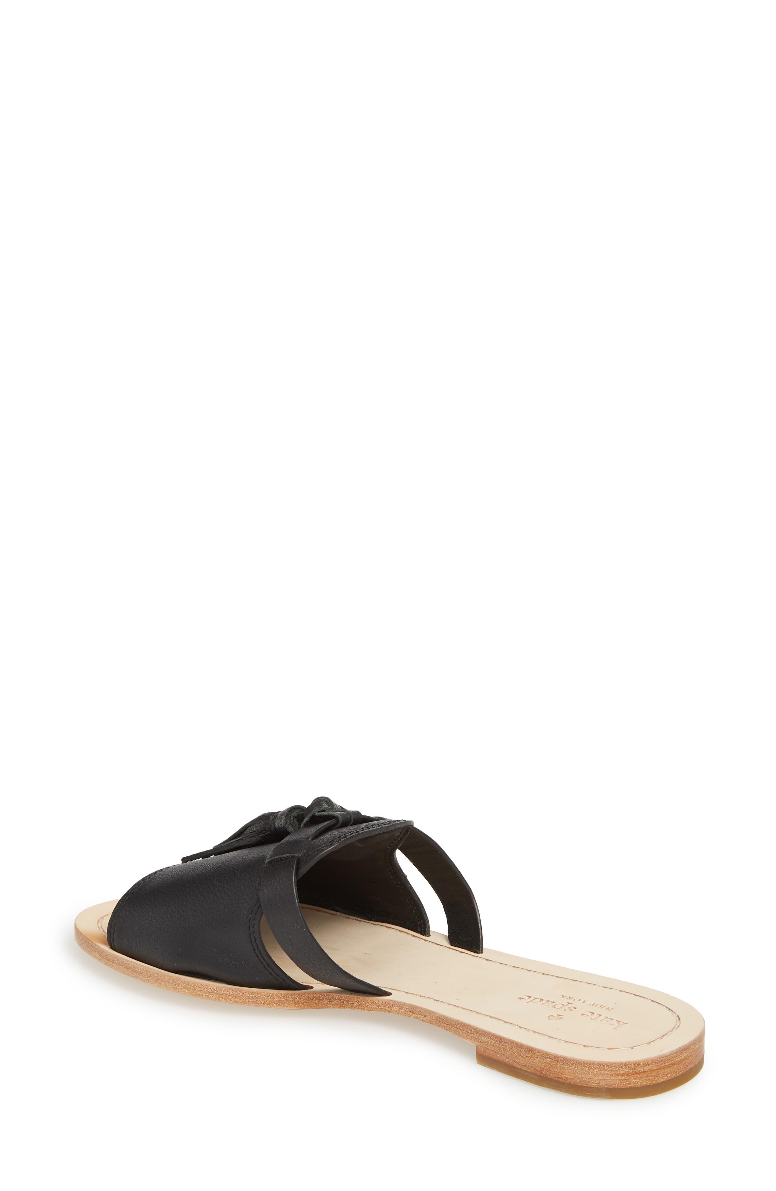 coby tassel slide sandal,                             Alternate thumbnail 2, color,                             Black