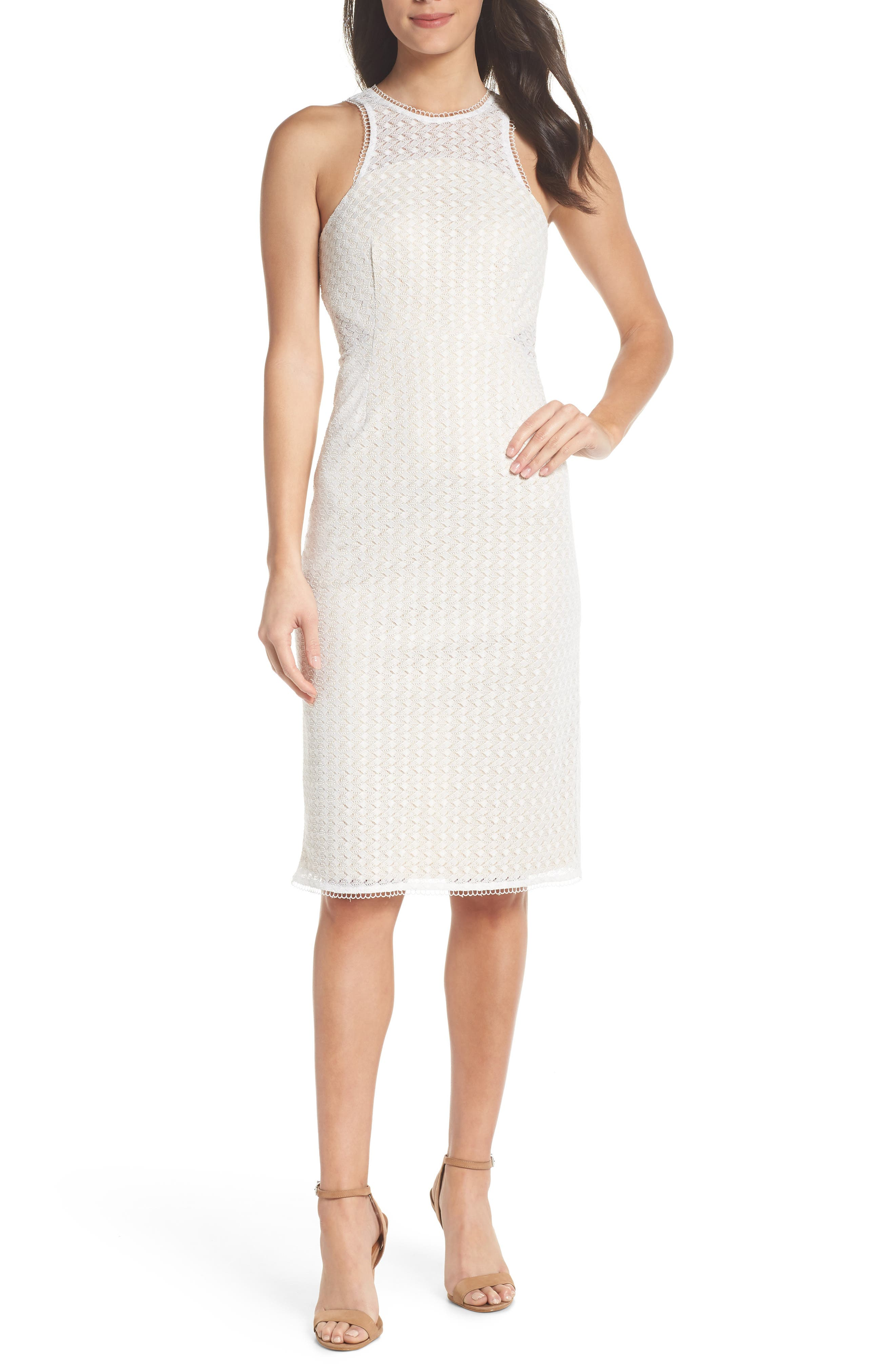 NSR NINA LACE SHEATH DRESS