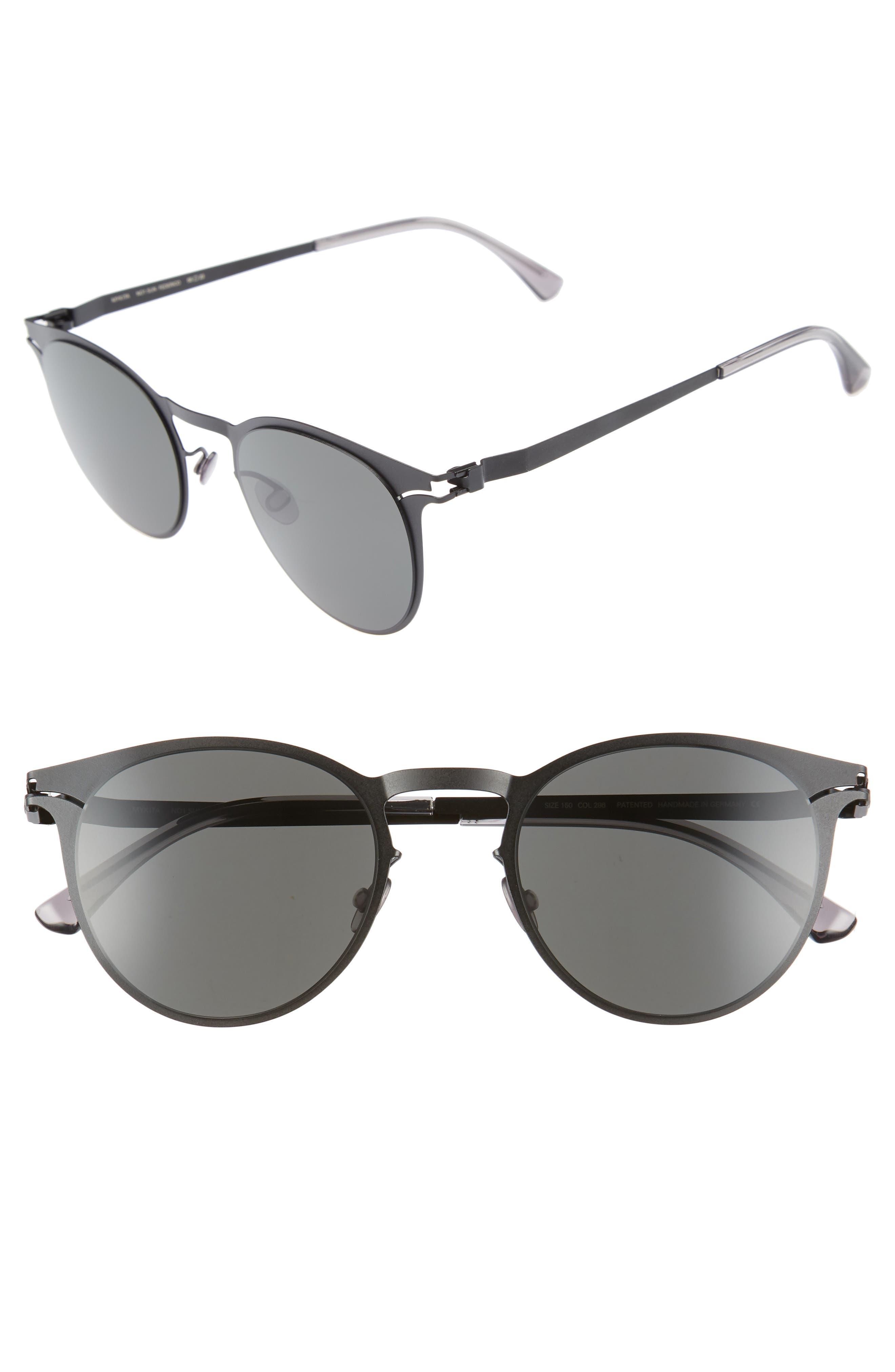 Federico 55mm Sunglasses,                             Main thumbnail 1, color,                             Matte Black