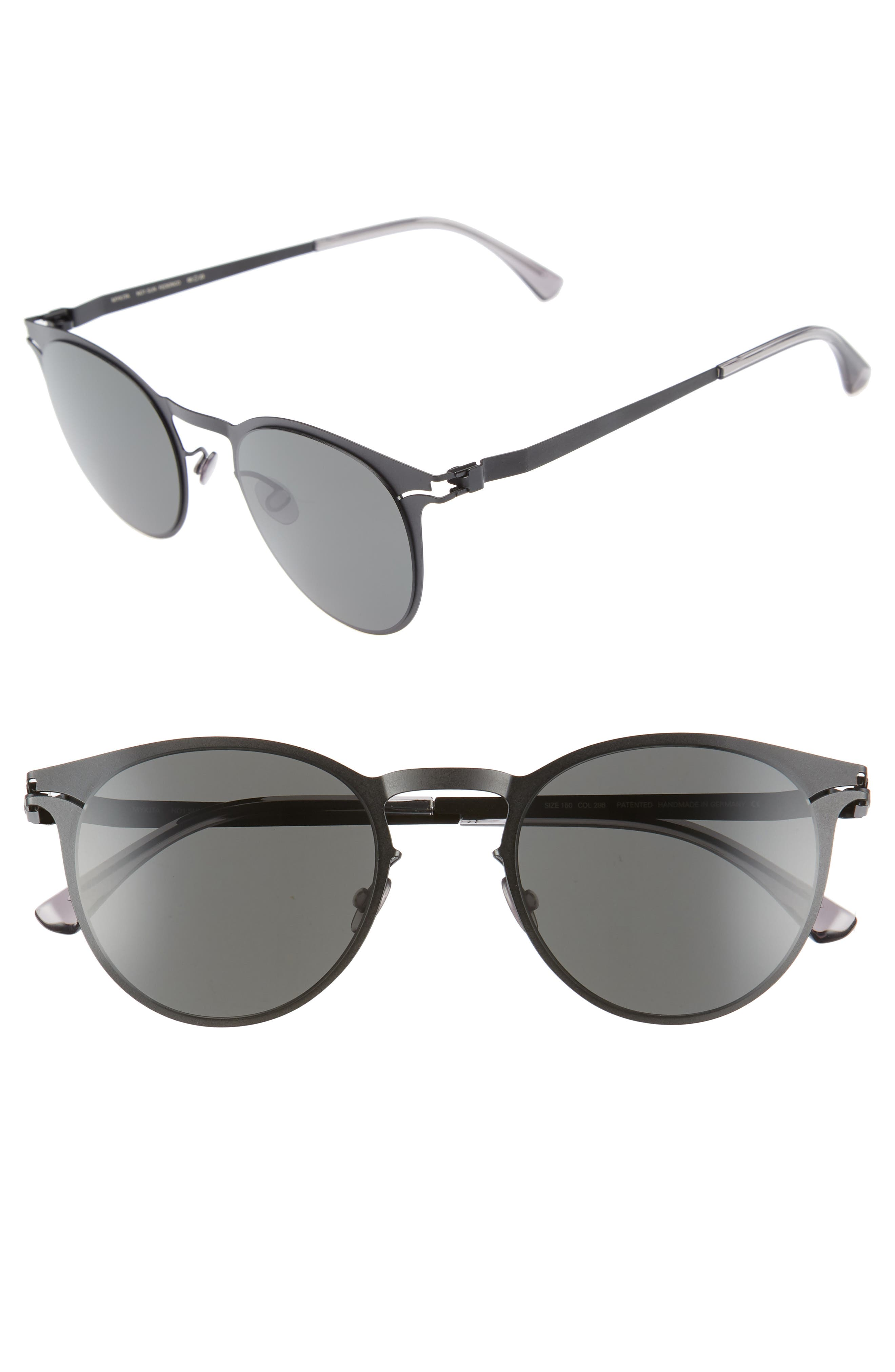 Federico 55mm Sunglasses,                         Main,                         color, Matte Black