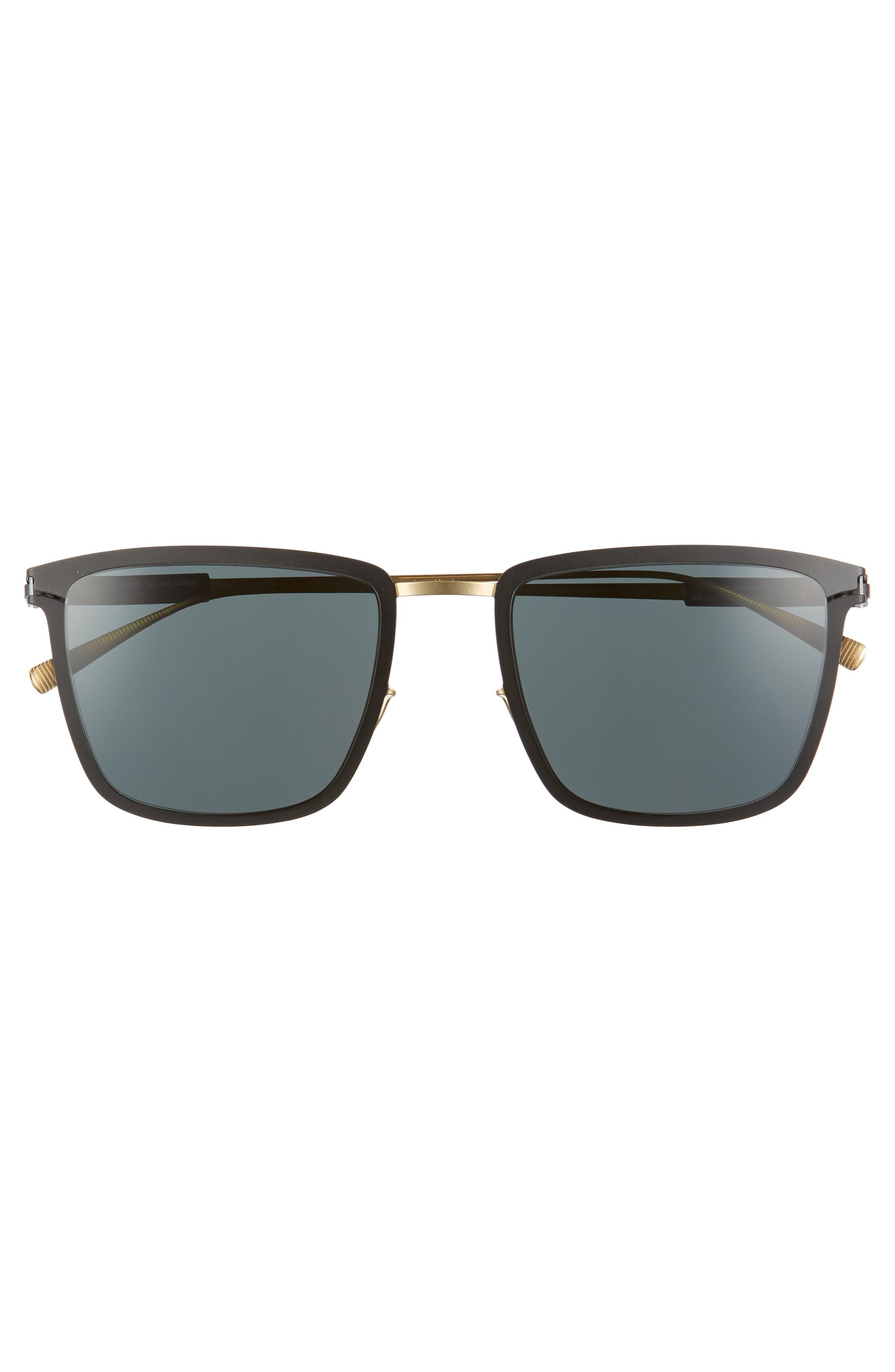 Vernon 54mm Polarized Sunglasses,                             Alternate thumbnail 2, color,                             Gold/ Black