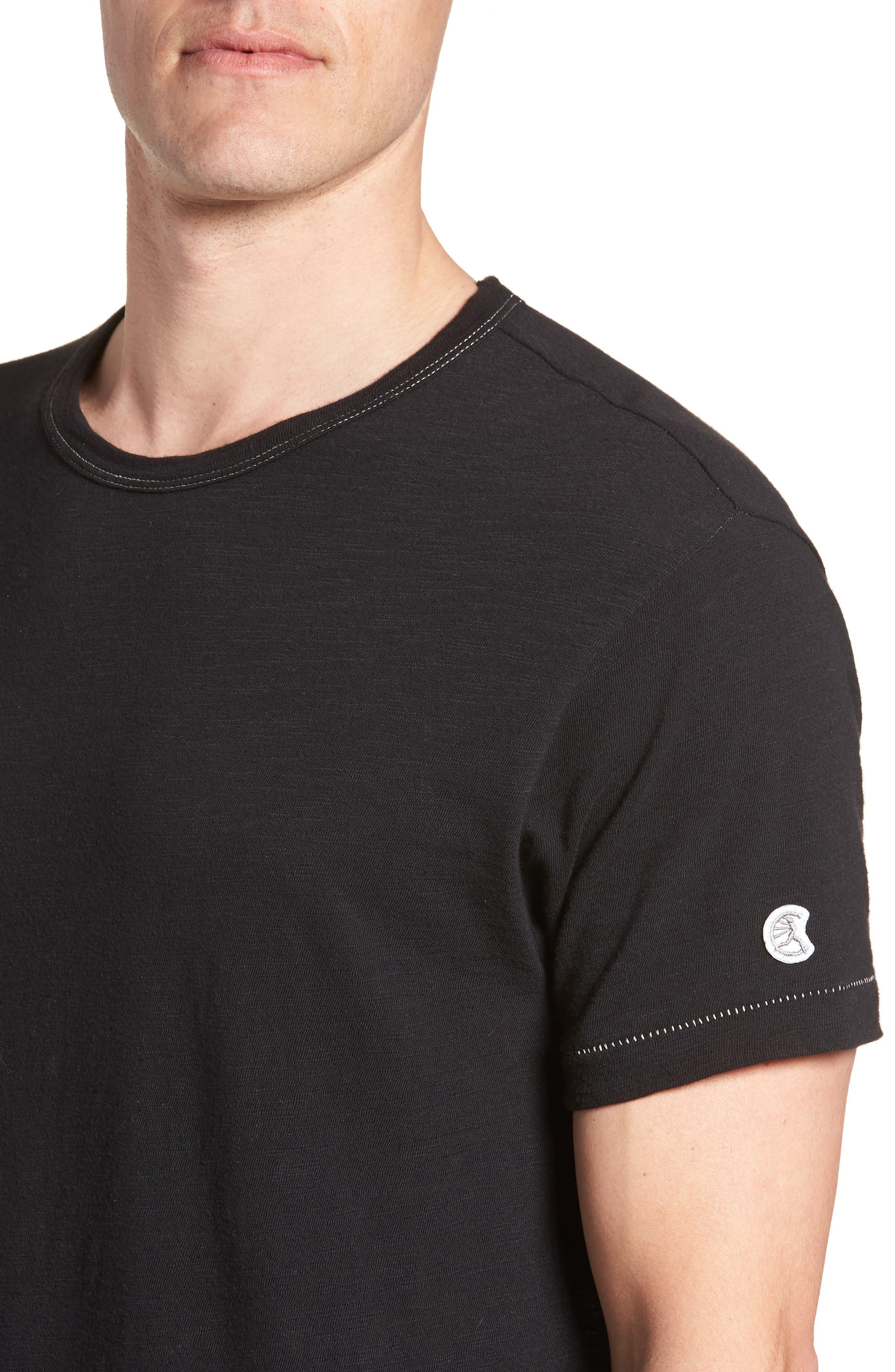 + Champion T-Shirt,                             Alternate thumbnail 4, color,                             Black