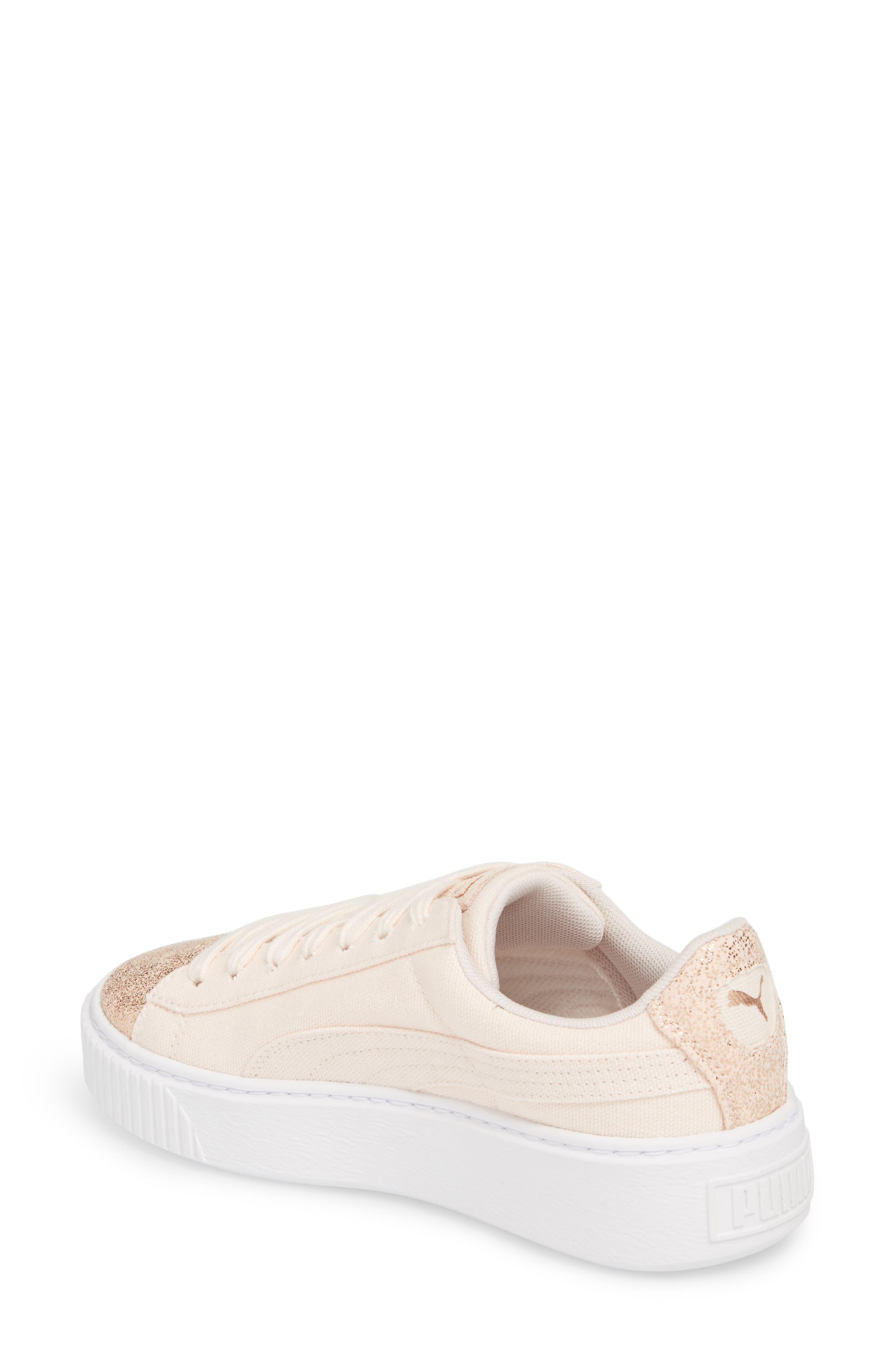 Basket Platform Sneaker,                             Alternate thumbnail 2, color,                             Pearl/ Rose Gold