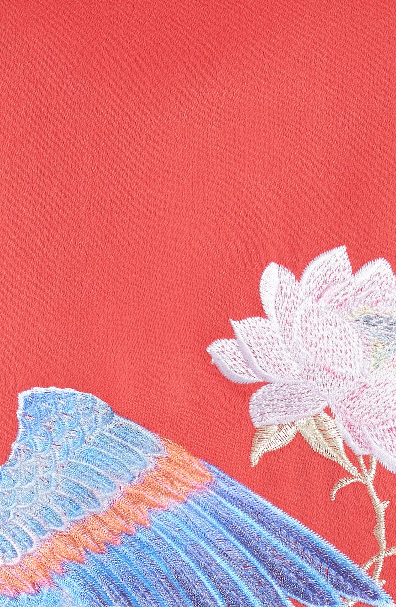 Ruuthe Chinoiserie Embroidery Jacket,                             Alternate thumbnail 5, color,                             Bright Red