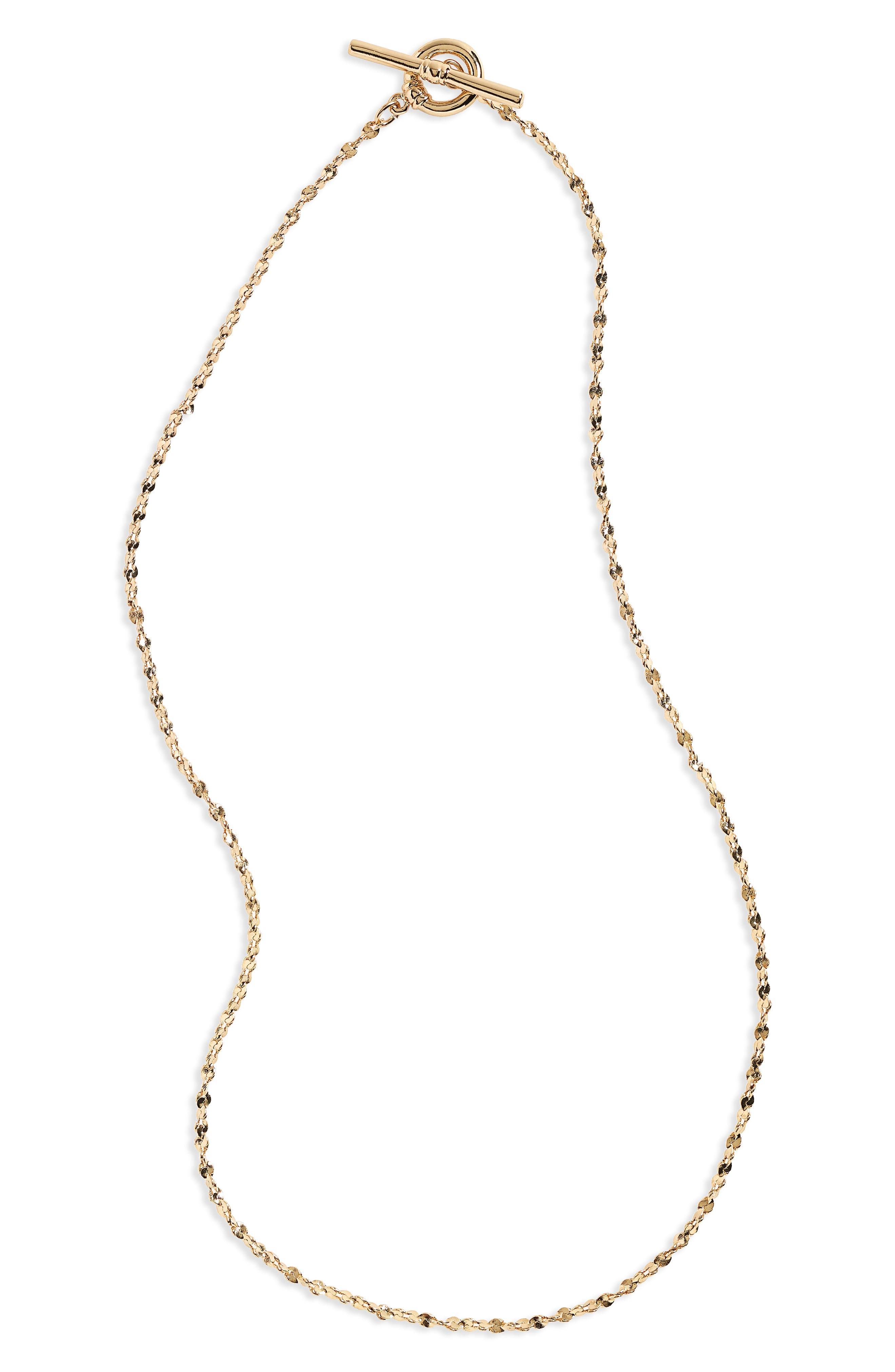 Topshop Bar Chain Necklace