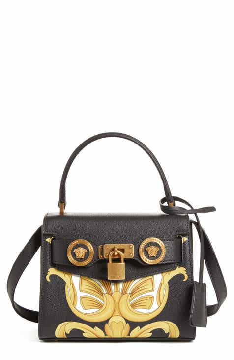 Versace Mini Icon Top Handle Leather Crossbody Bag 3953657f30a30