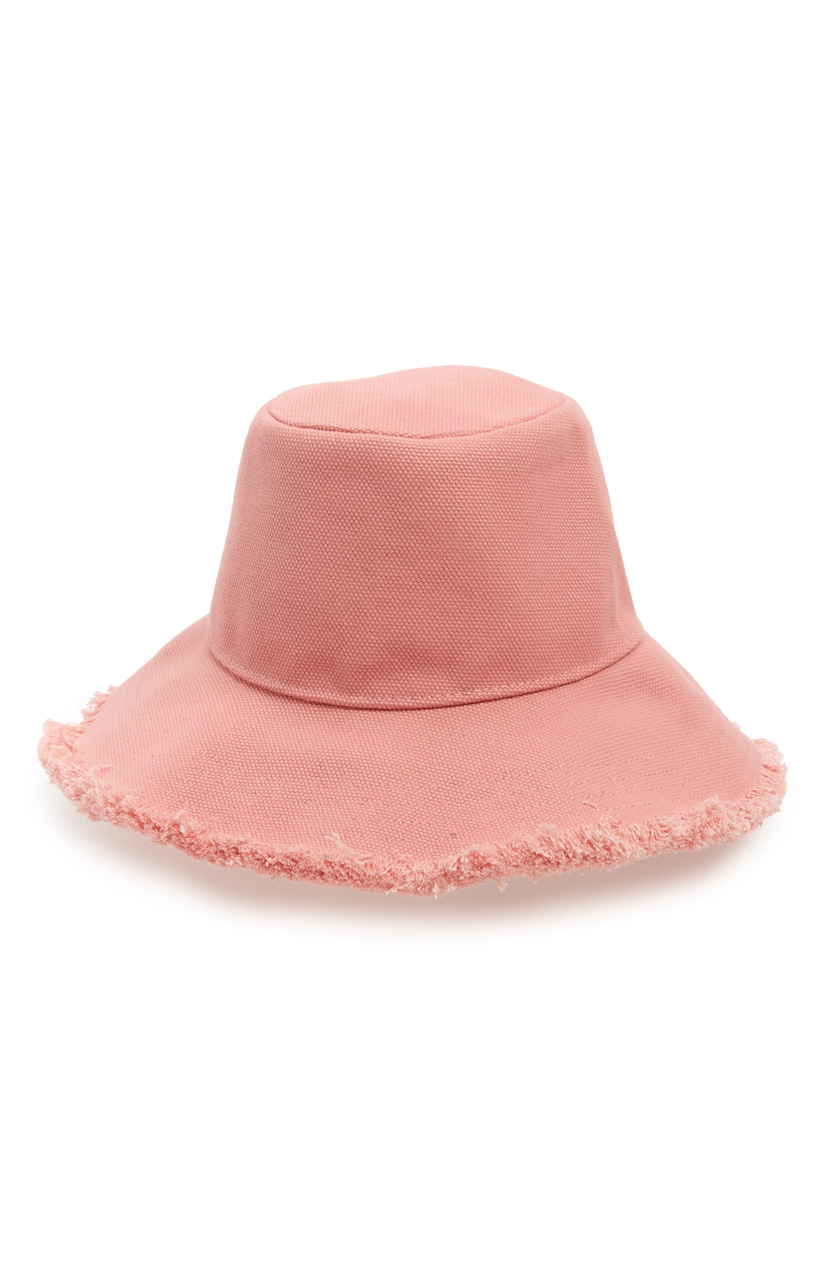 Canvas Bucket Hat,                             Main thumbnail 1, color,                             Pink Canvas