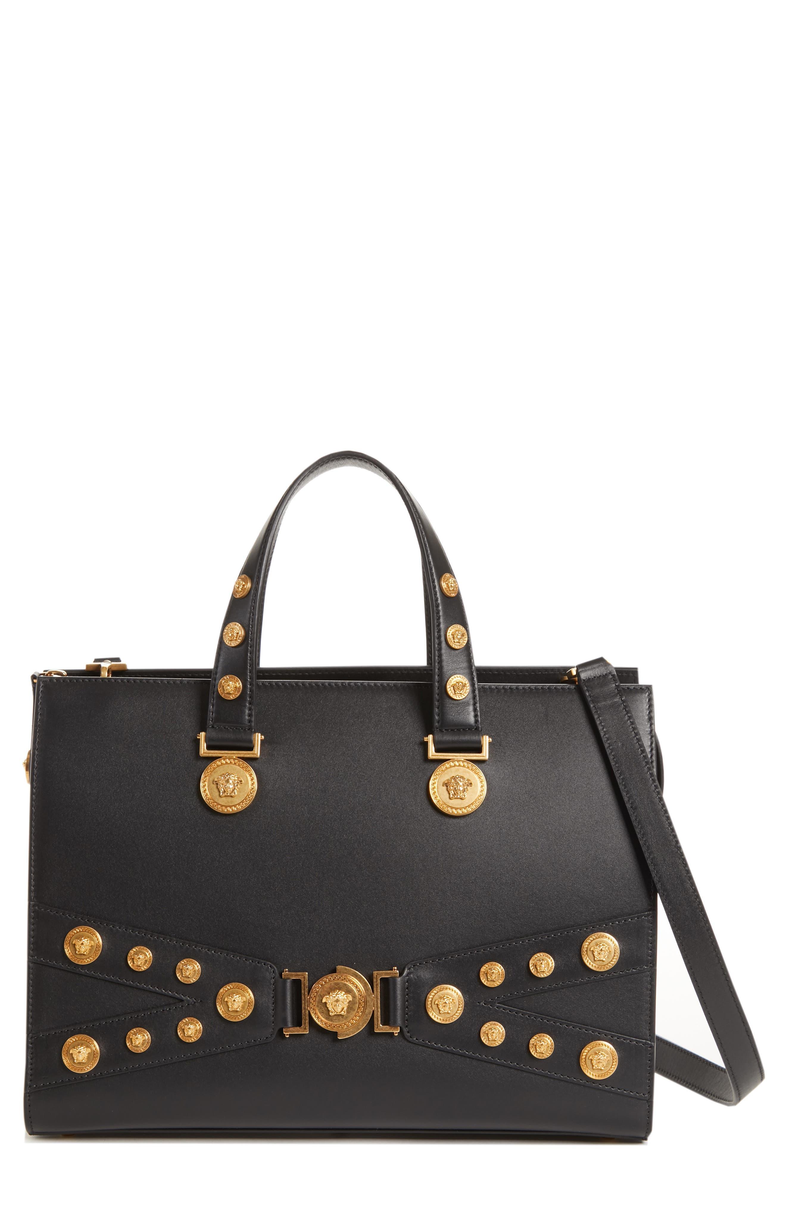 Versace Tribute Top Handle Leather Satchel