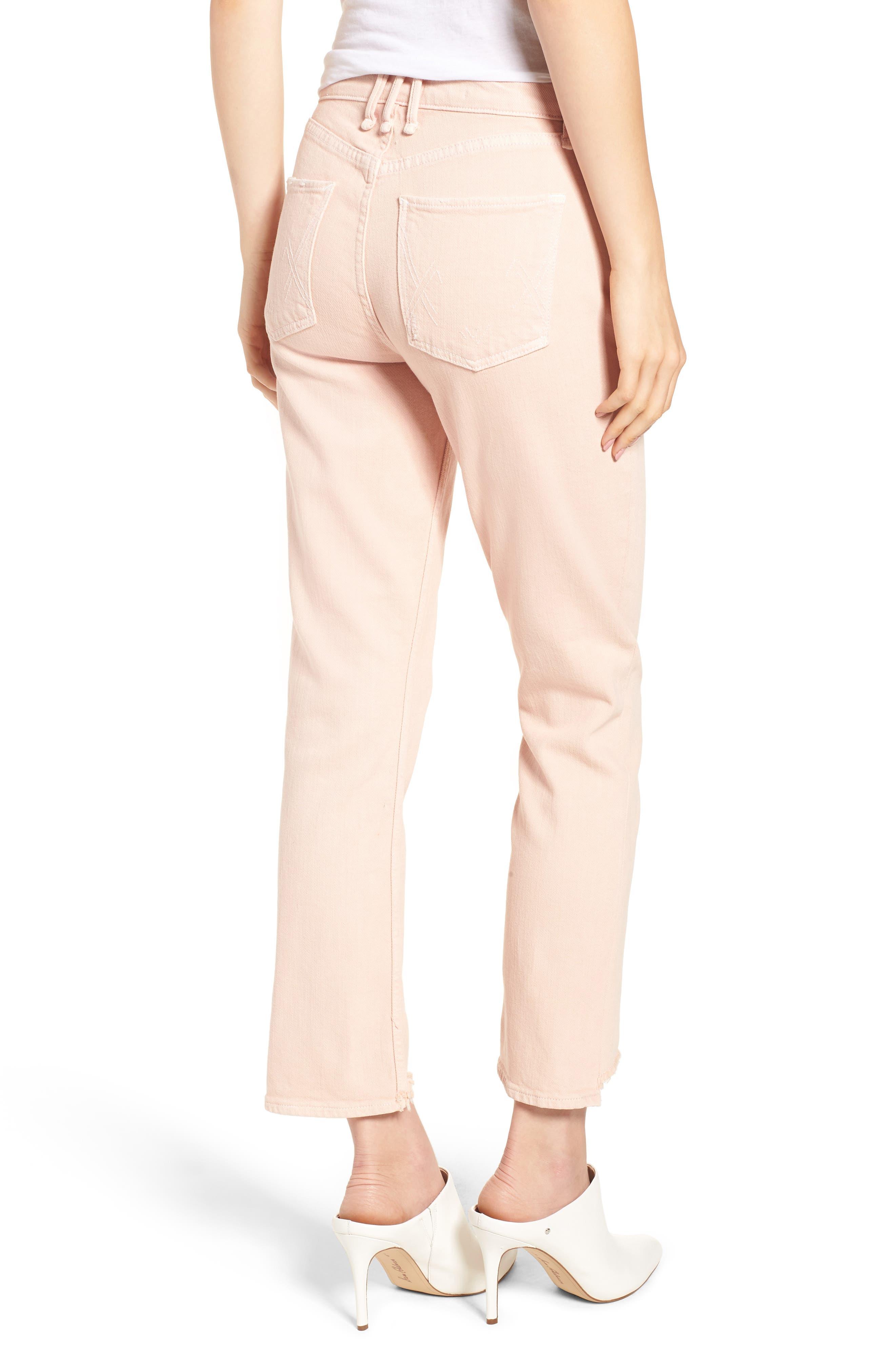 Valletta High Waist Crop Straight Leg Jeans,                             Alternate thumbnail 2, color,                             Punch Pink