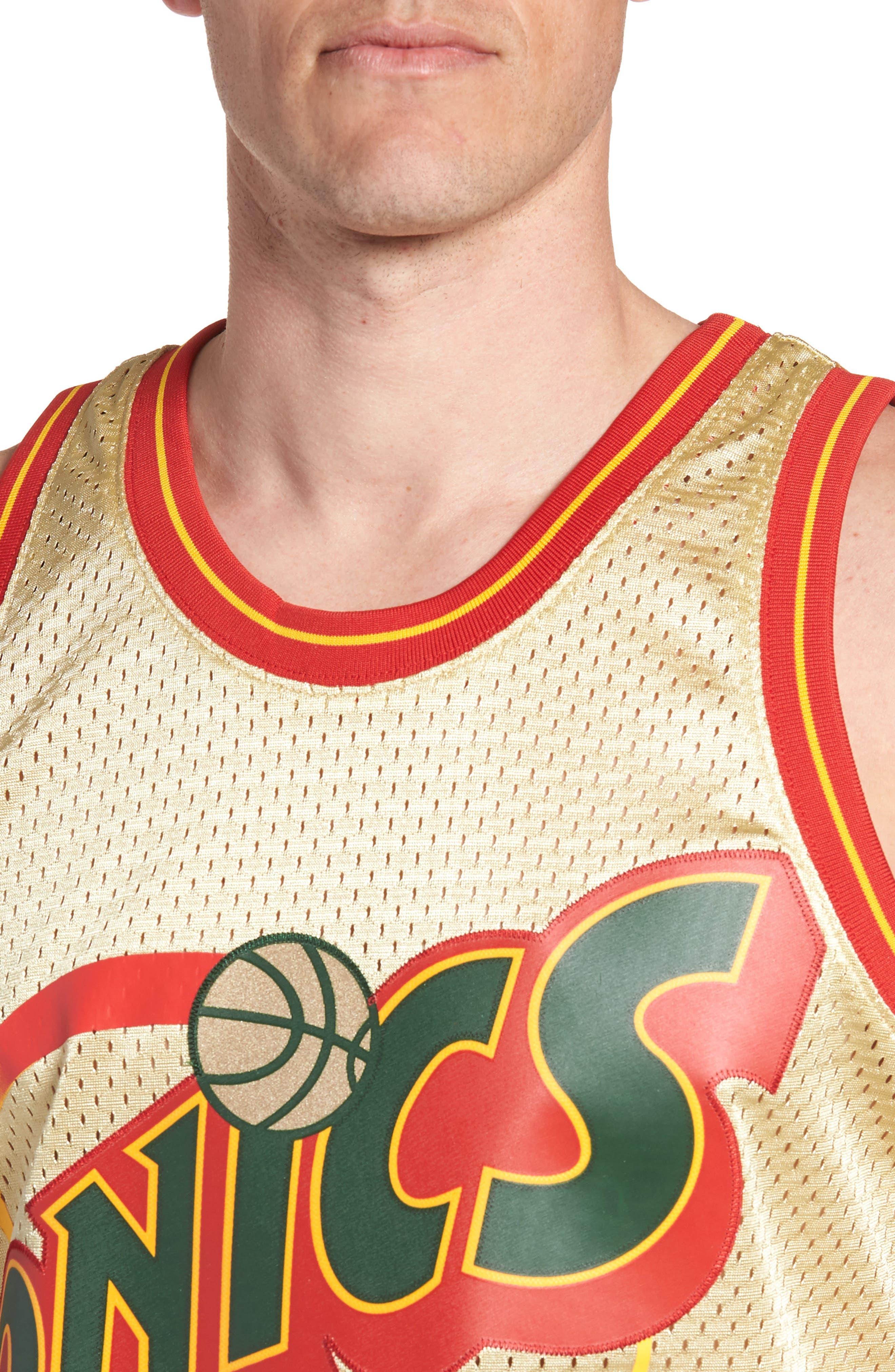 NBA Gold Payton Jersey,                             Alternate thumbnail 4, color,                             Gold