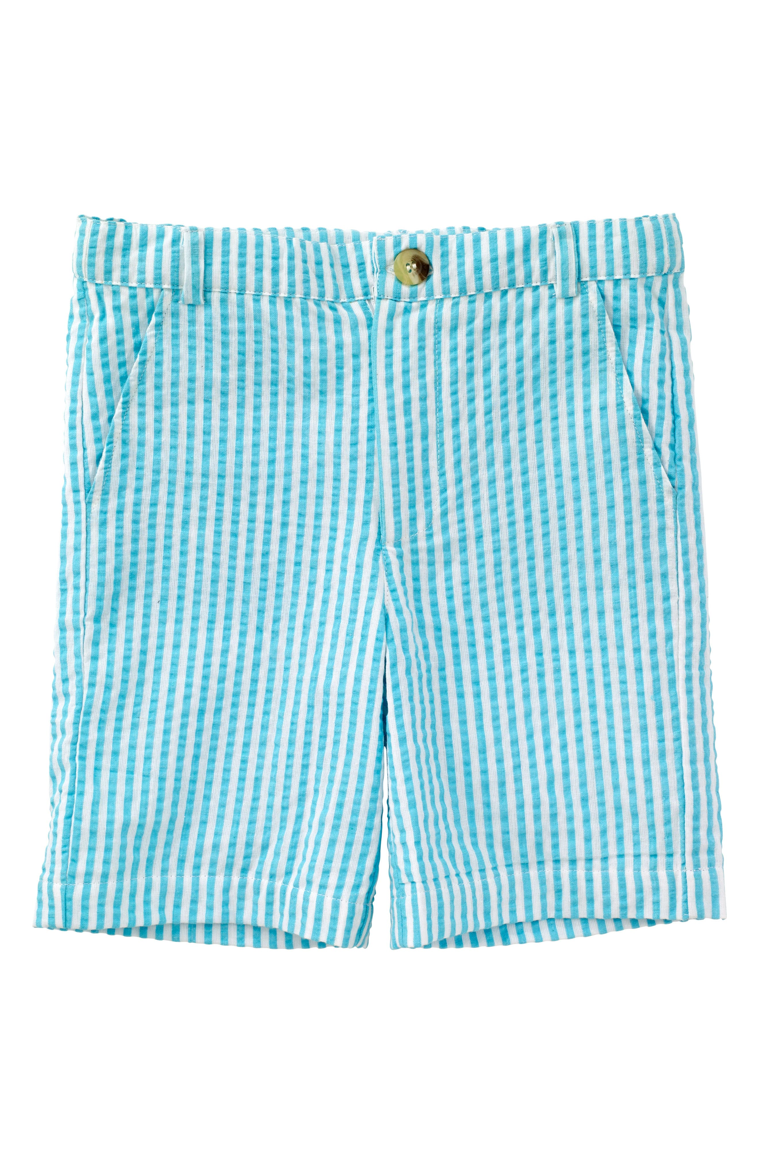 Masalababy Crosby Stripe Shorts,                         Main,                         color, Turquoise